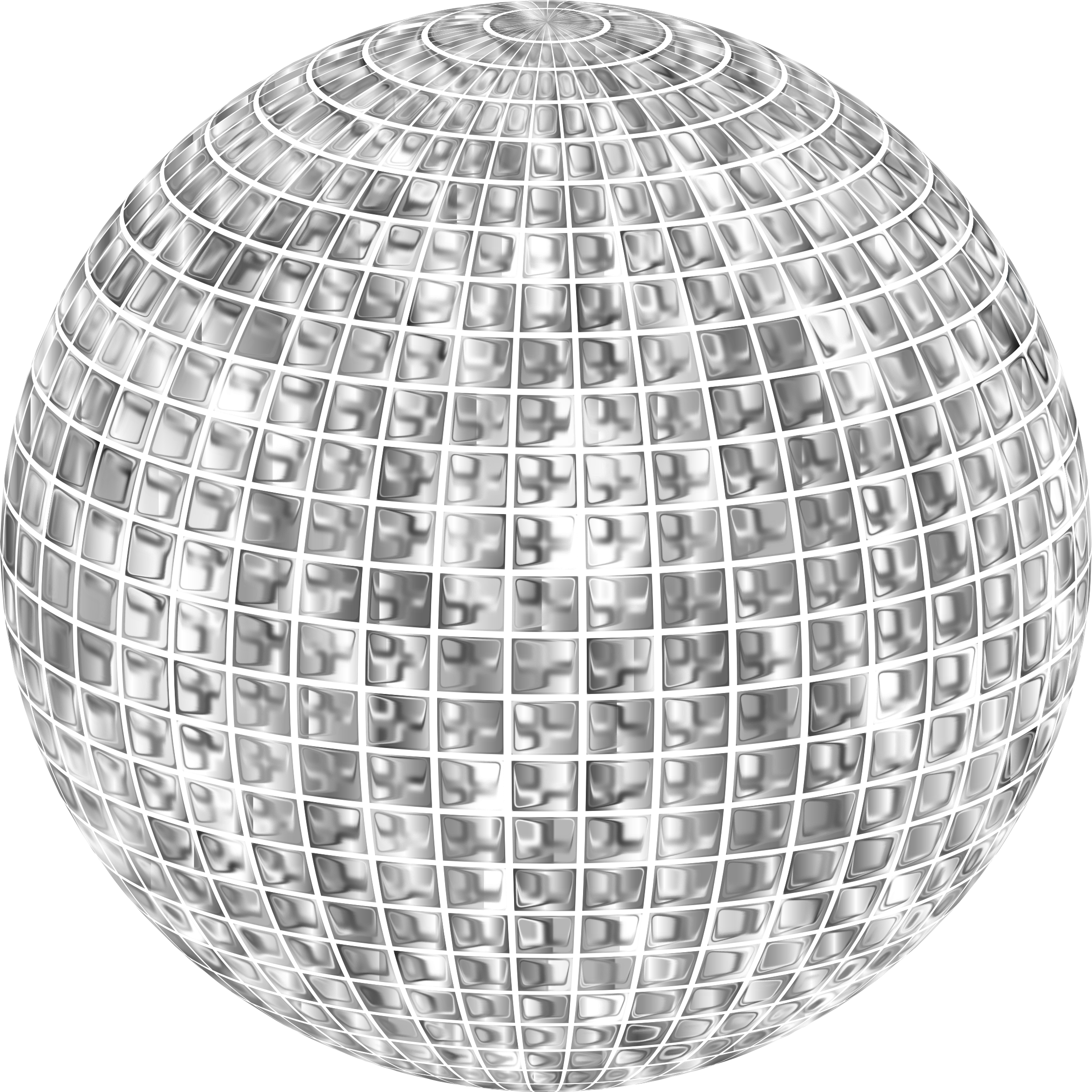 Glimmering Disco Ball Enhanced No Background by GDJ
