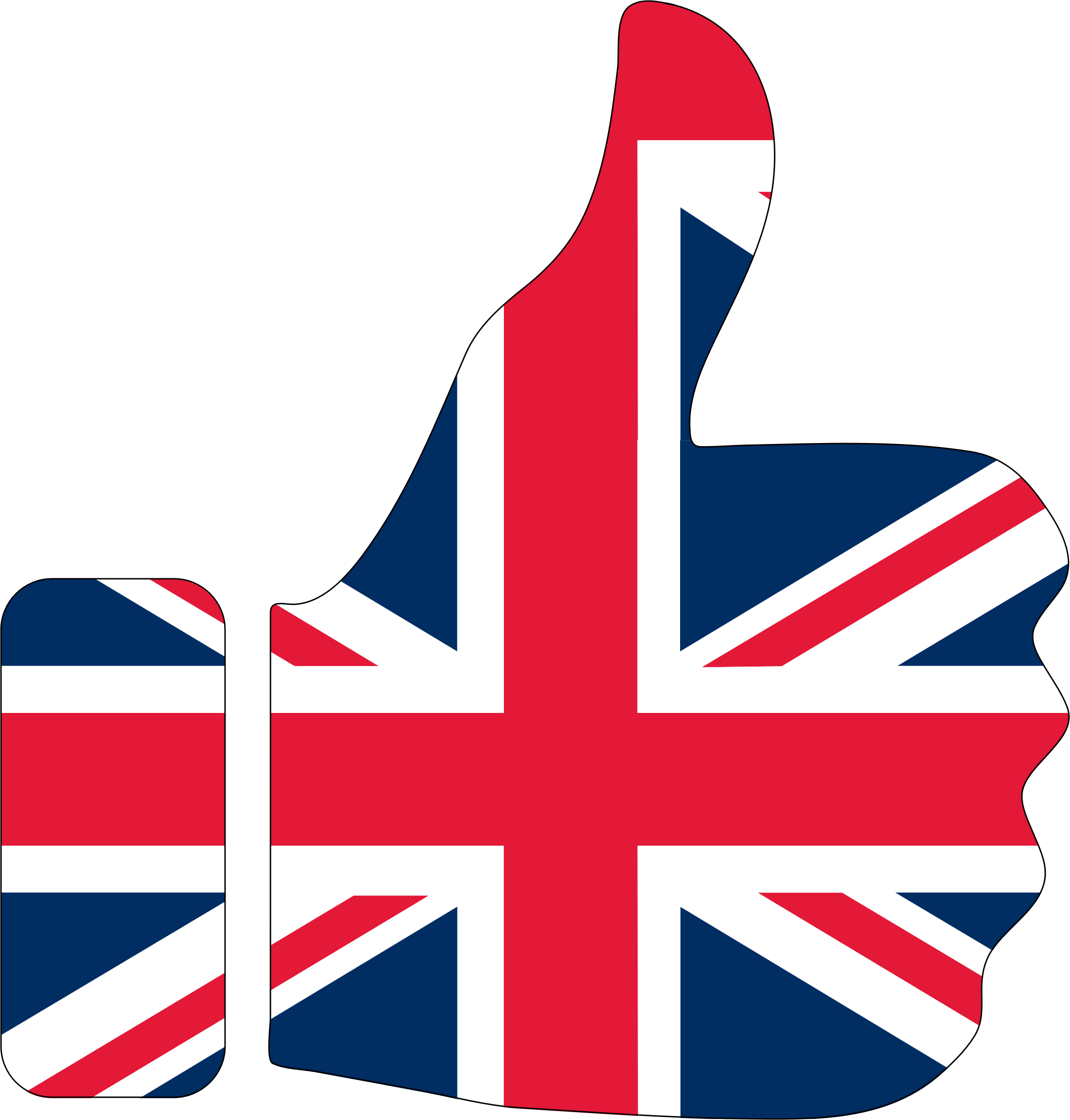 Thumbs Up United Kingdom Britain With Stroke by GDJ