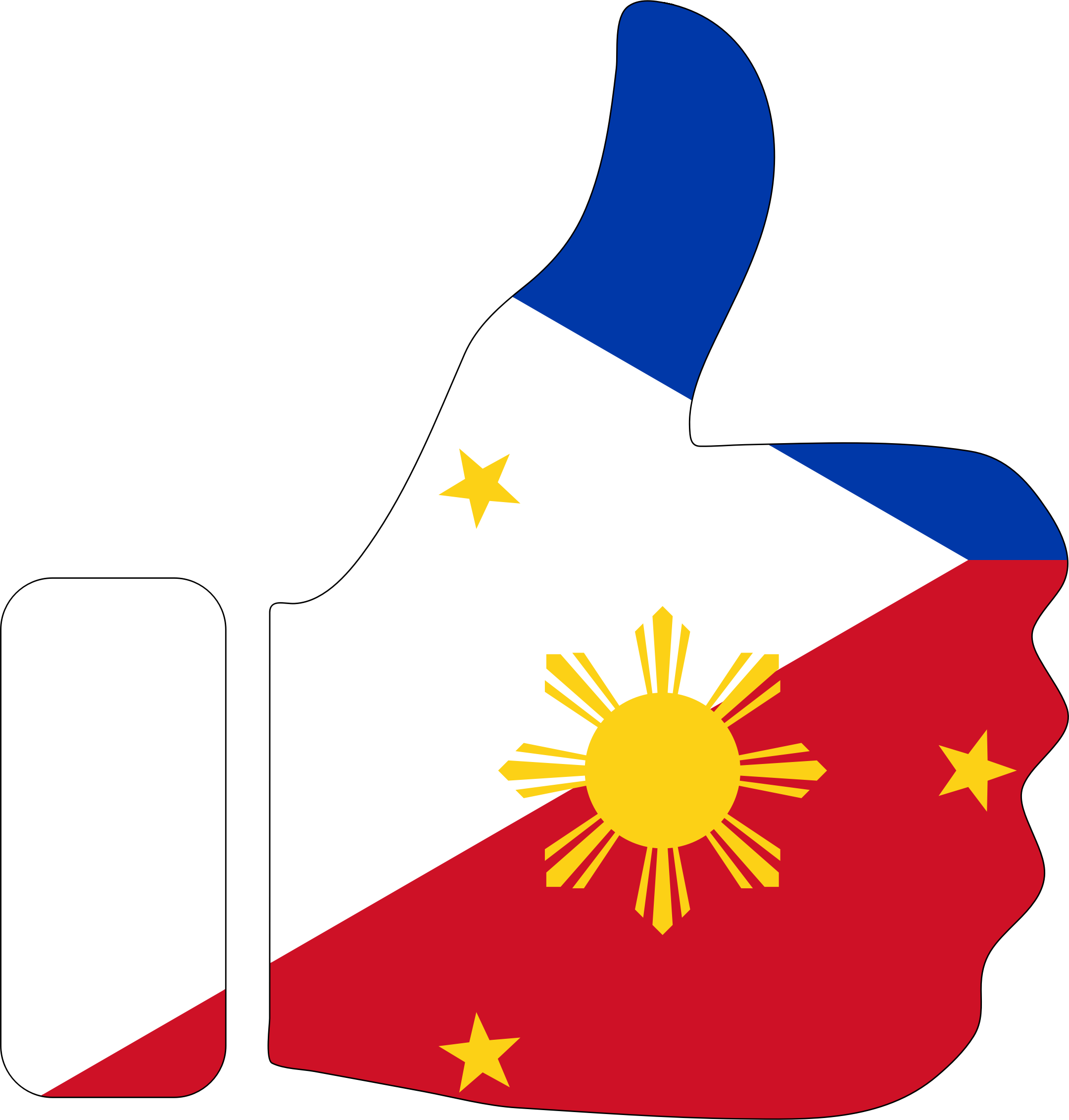 Thumbs Up Philippines With Stroke by GDJ