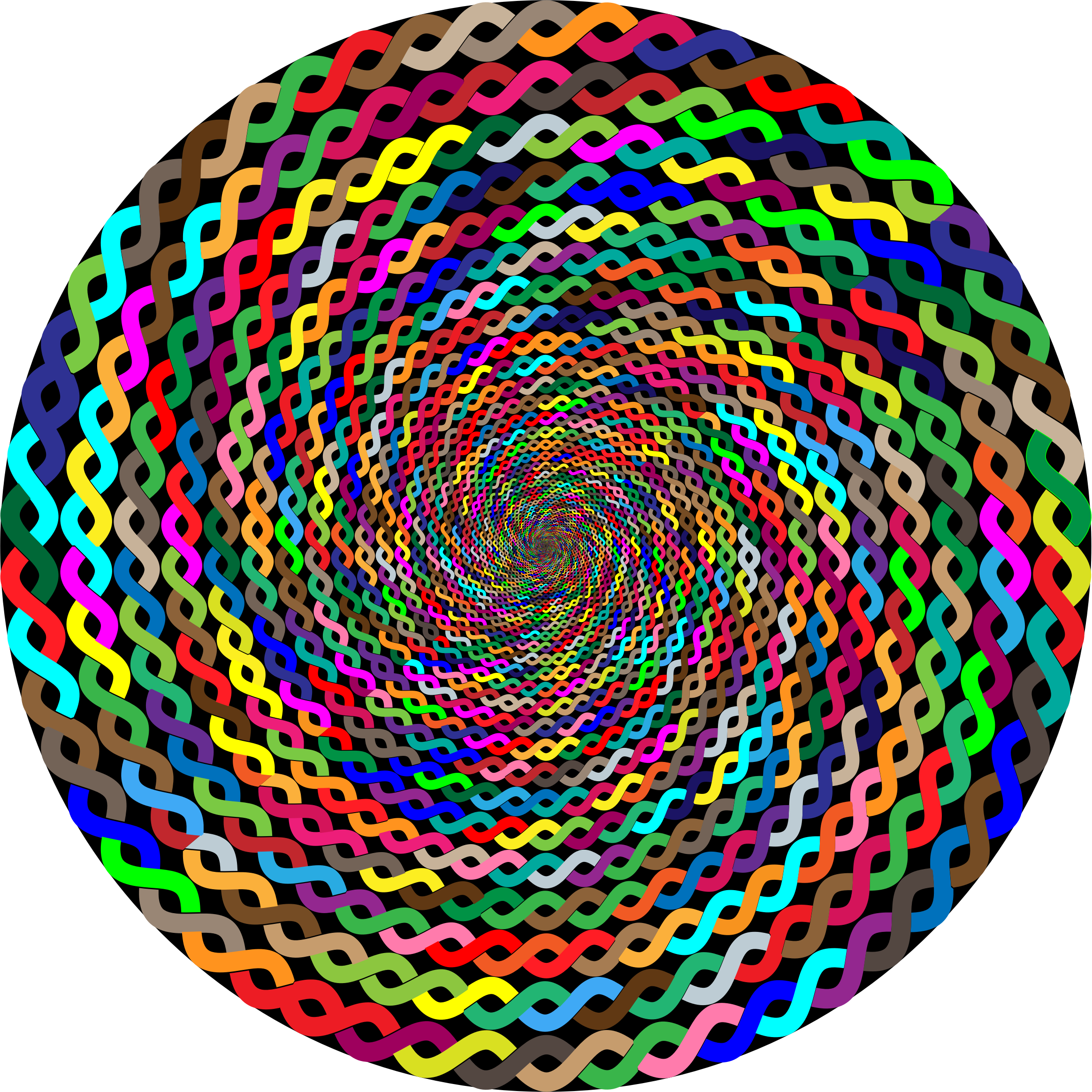 Prismatic Intertwined Circle Vortex by GDJ