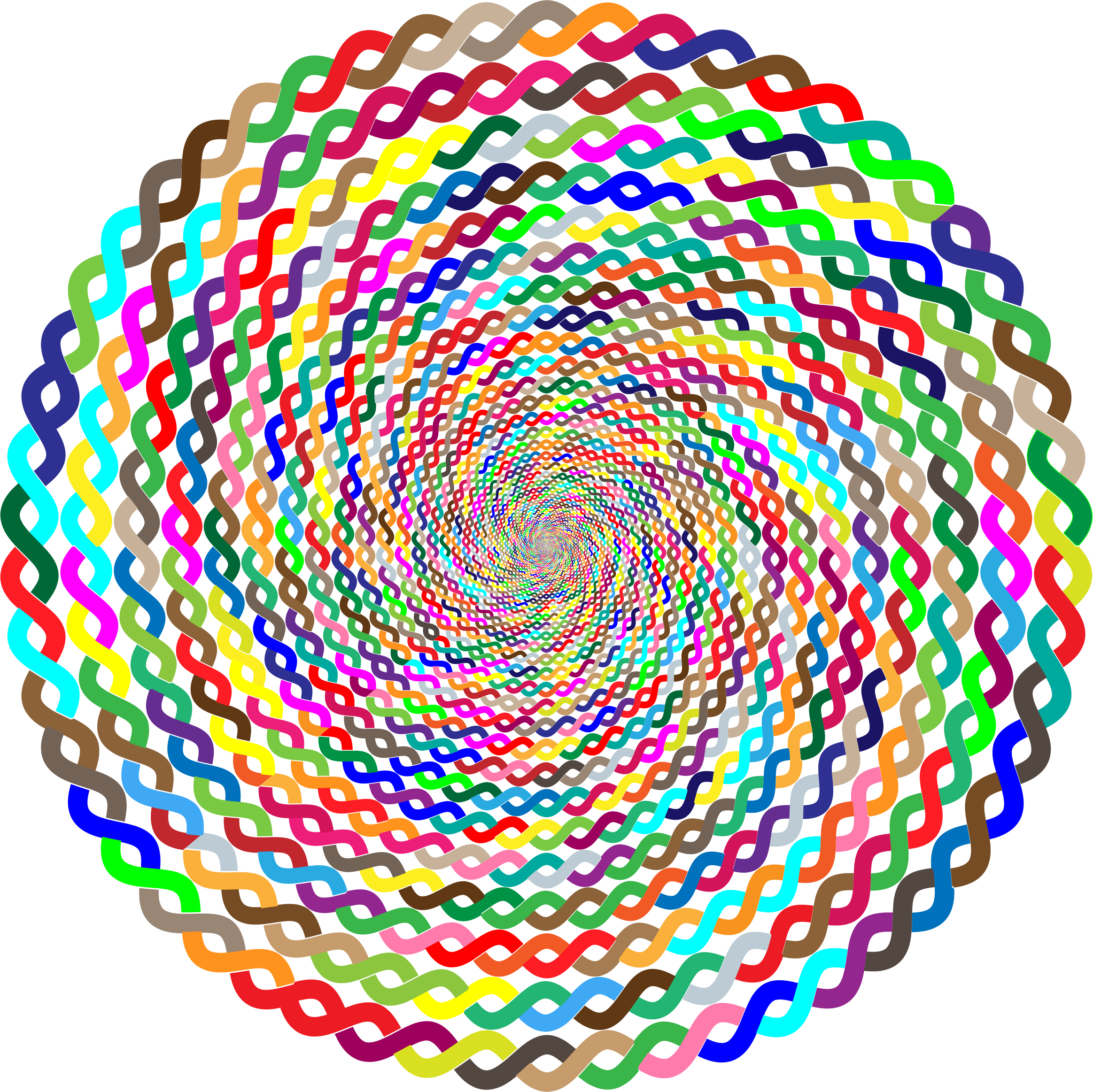 Prismatic Intertwined Circle Vortex No Background by GDJ