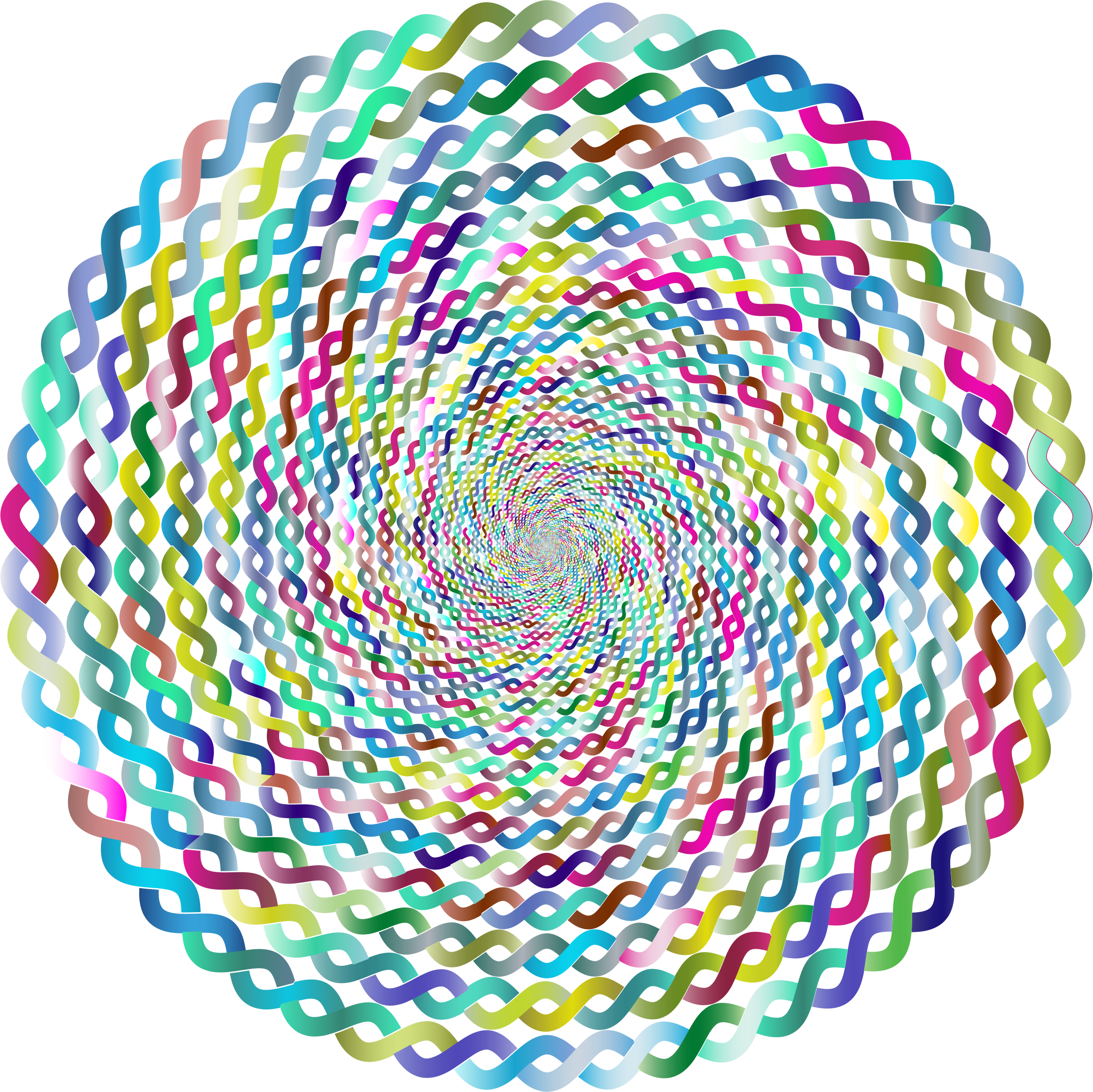 Prismatic Intertwined Circle Vortex 3 No Background by GDJ