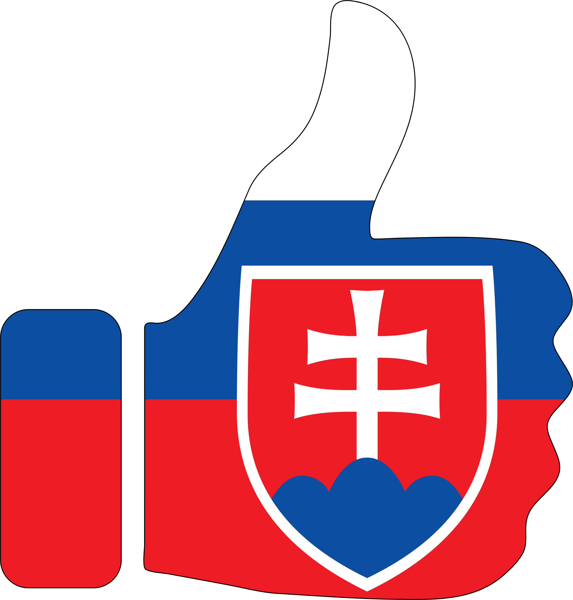 Thumbs Up Slovakia With Stroke by GDJ