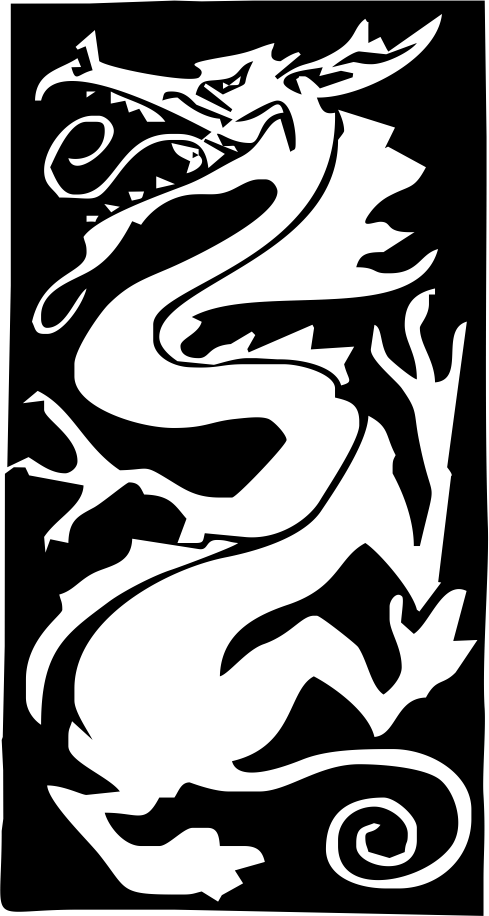 Asian dragon vignette by ArtGeek