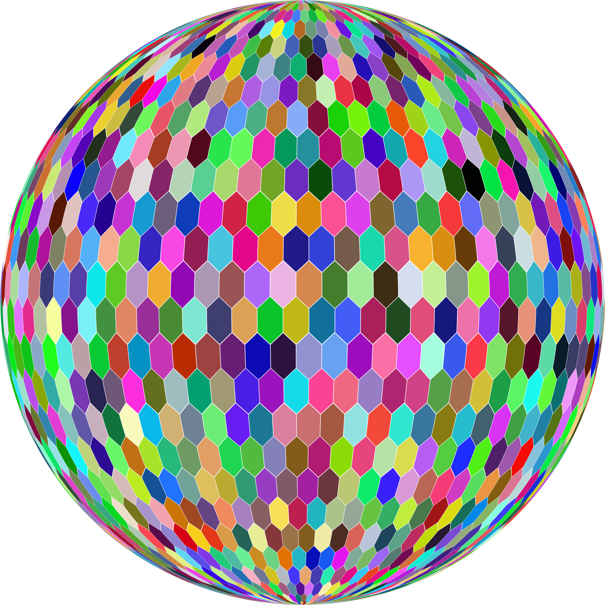 Prismatic Hexagonal Grid Sphere Variation 2 by GDJ