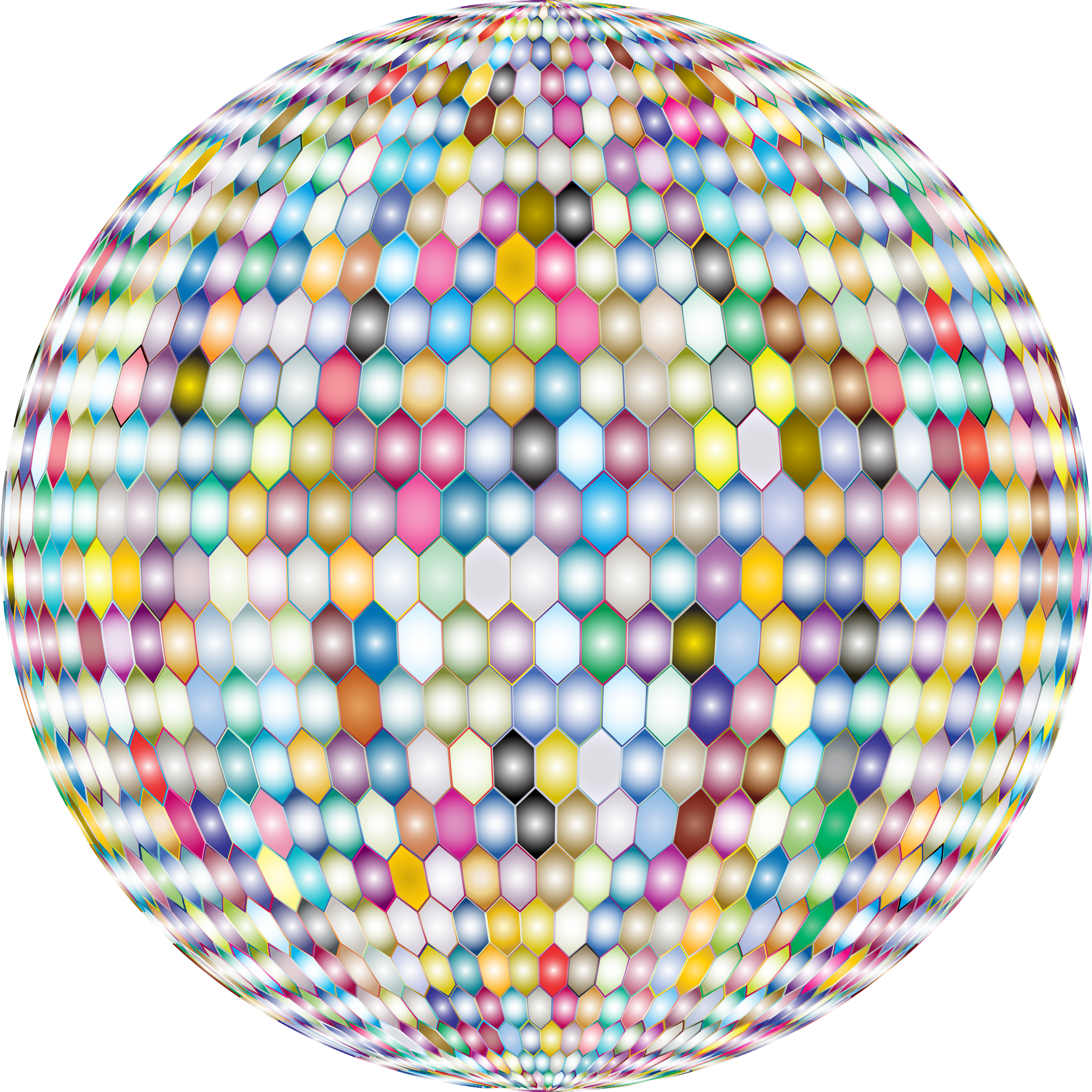 Prismatic Hexagonal Grid Sphere Variation 2 3 by GDJ