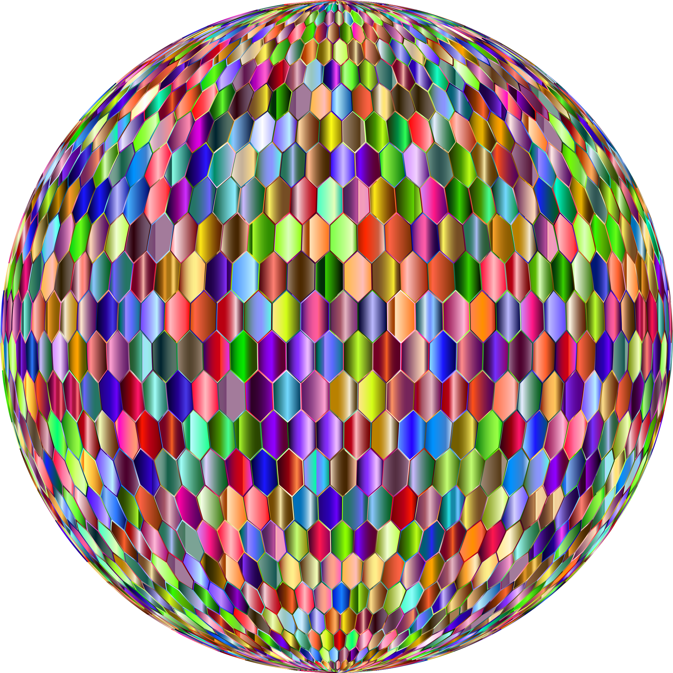 Prismatic Hexagonal Grid Sphere Variation 2 6 by GDJ