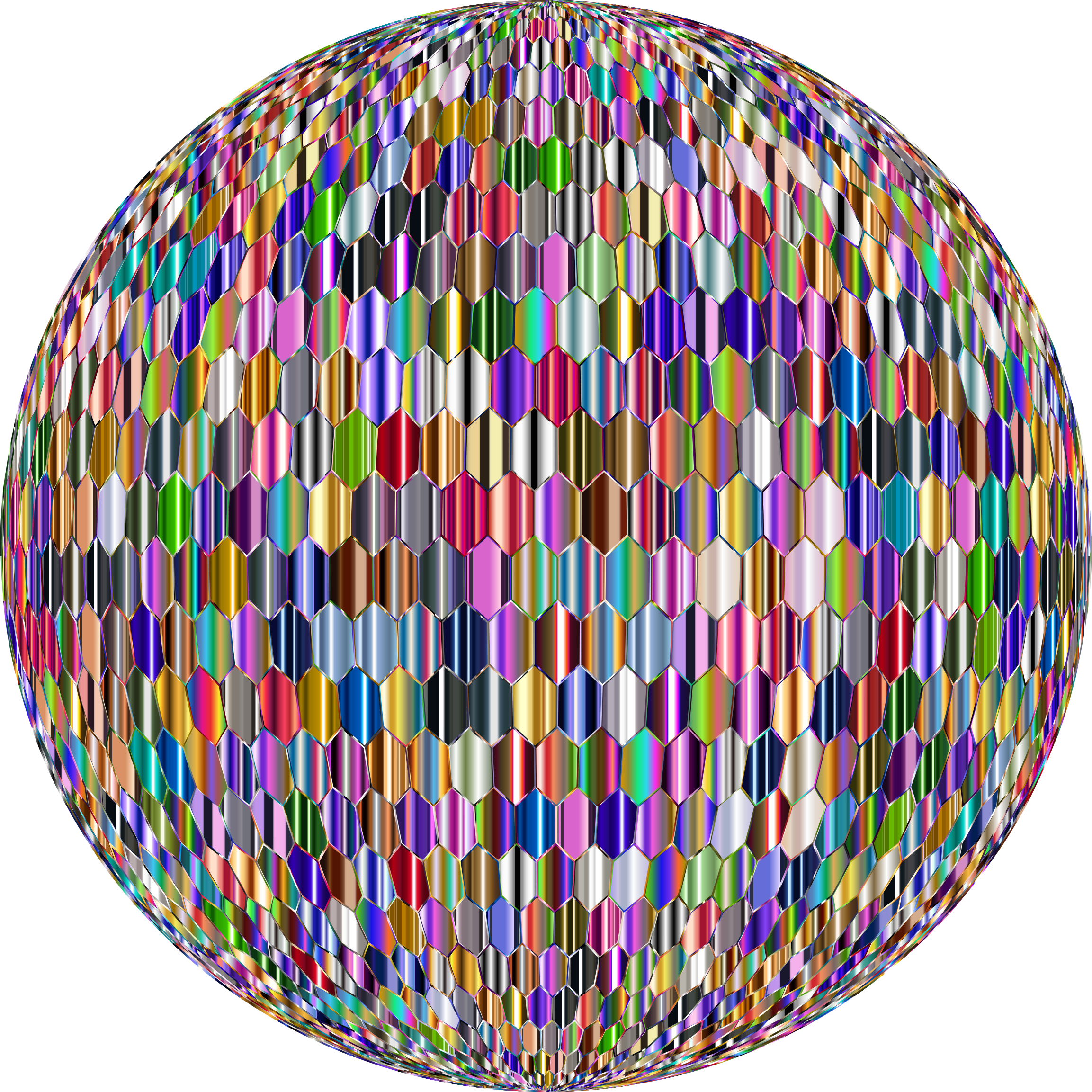 Prismatic Hexagonal Grid Sphere Variation 2 10 by GDJ