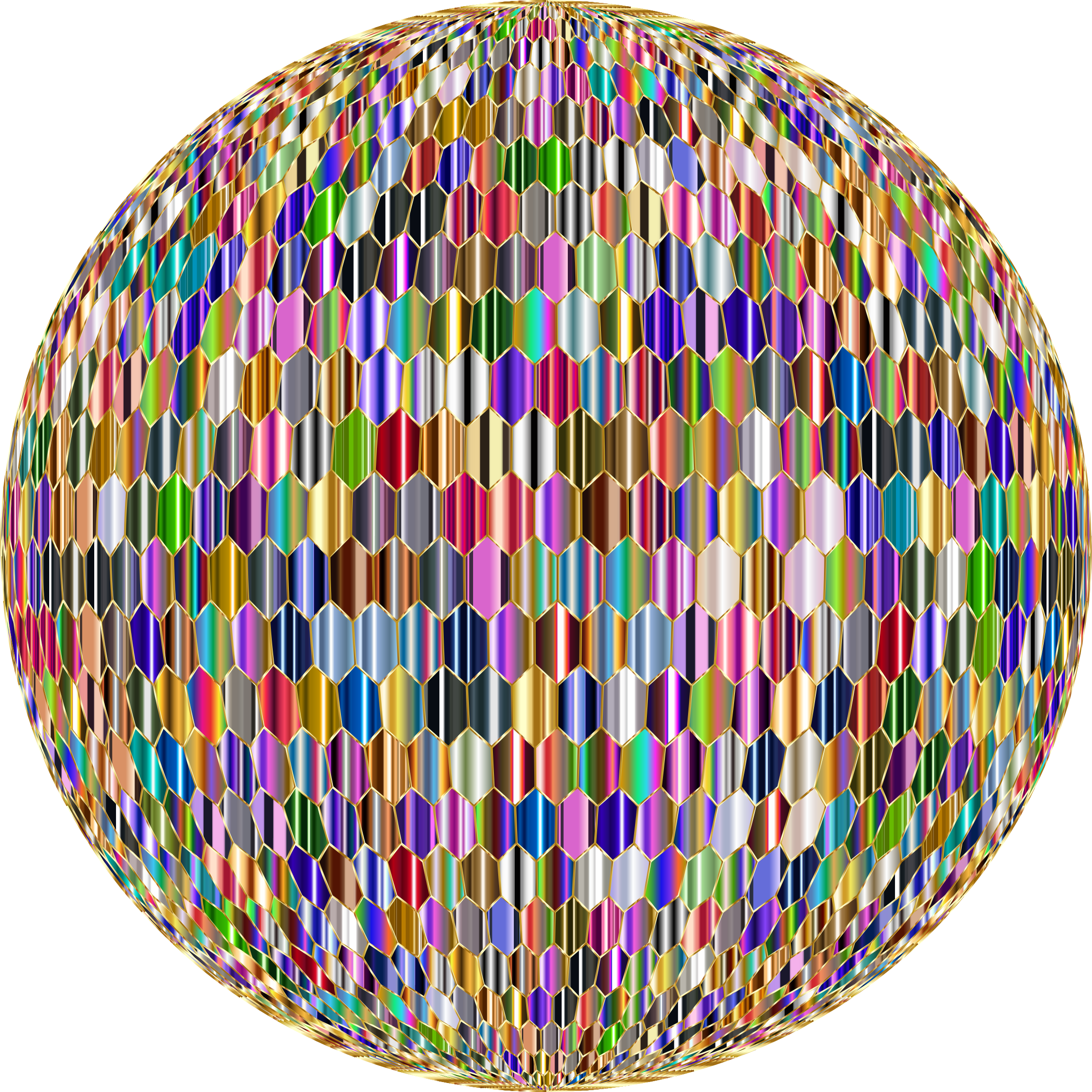 Prismatic Hexagonal Grid Sphere Variation 2 10 Variation 2 by GDJ