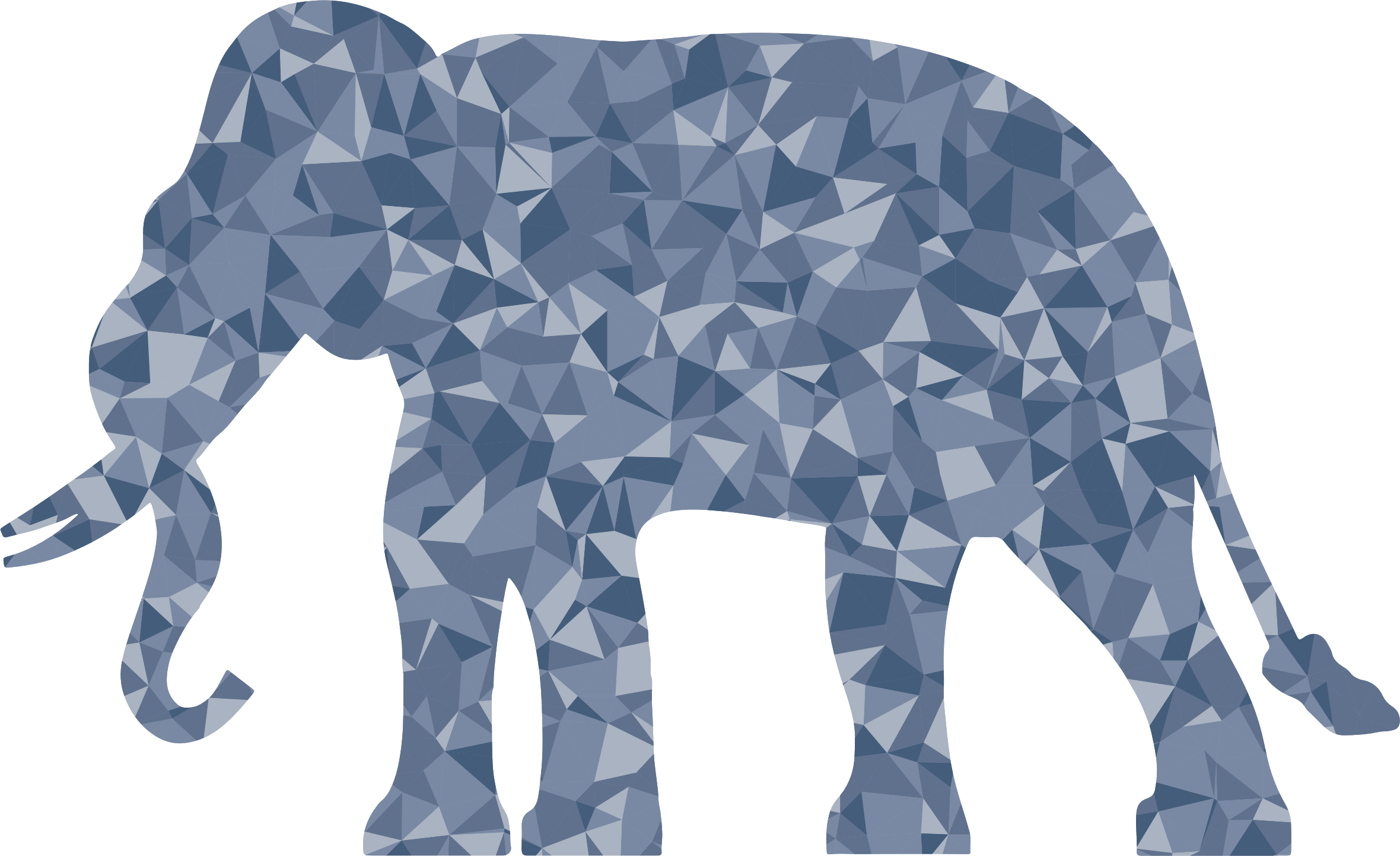 Clipart - Polygonal Elephant Silhouette