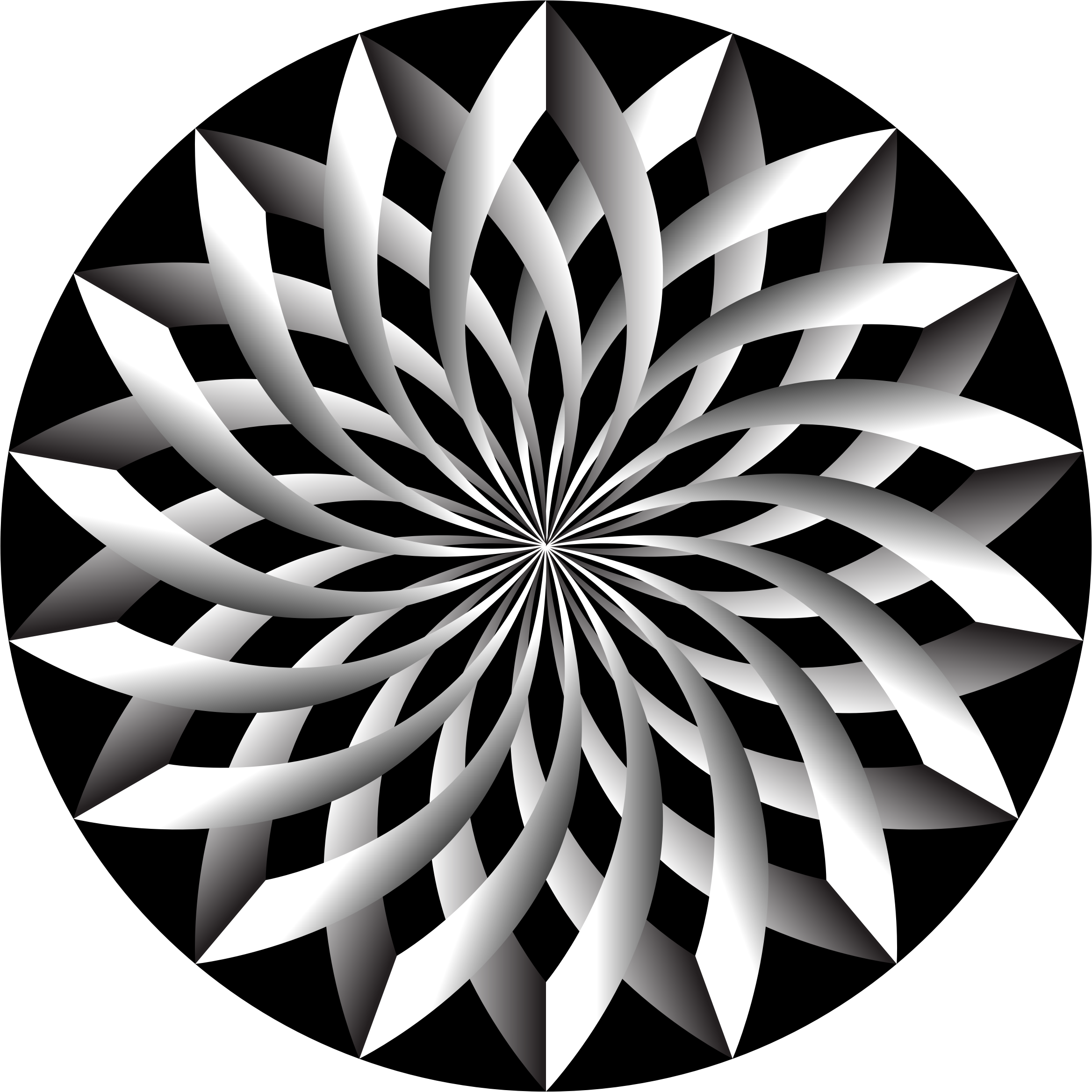 Clipart - Light And Shadow Lotus