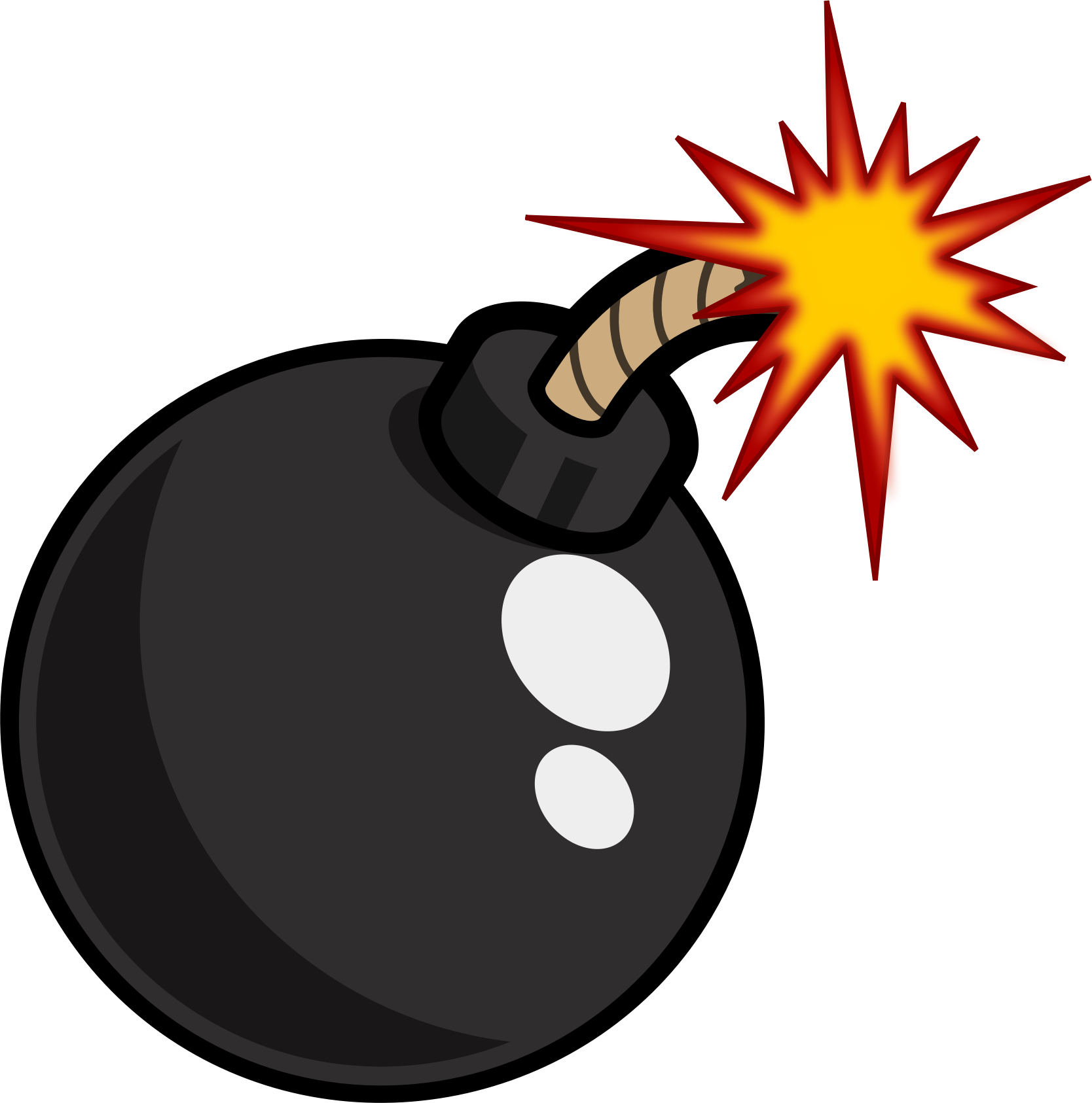 Black Cartoon Bomb by nipponesser