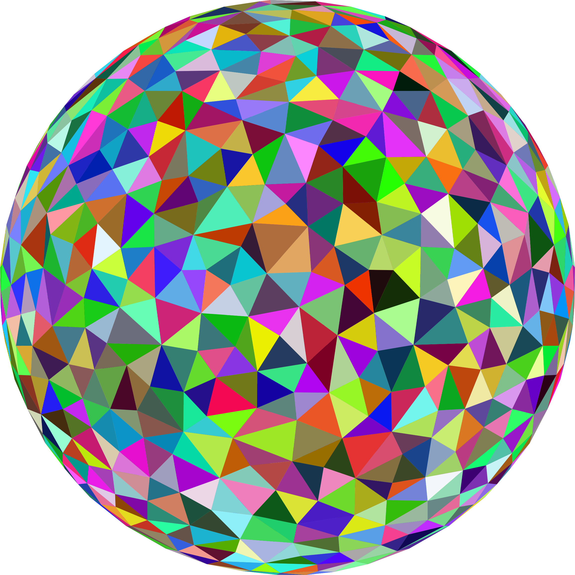 Prismatic Low Poly Sphere by GDJ