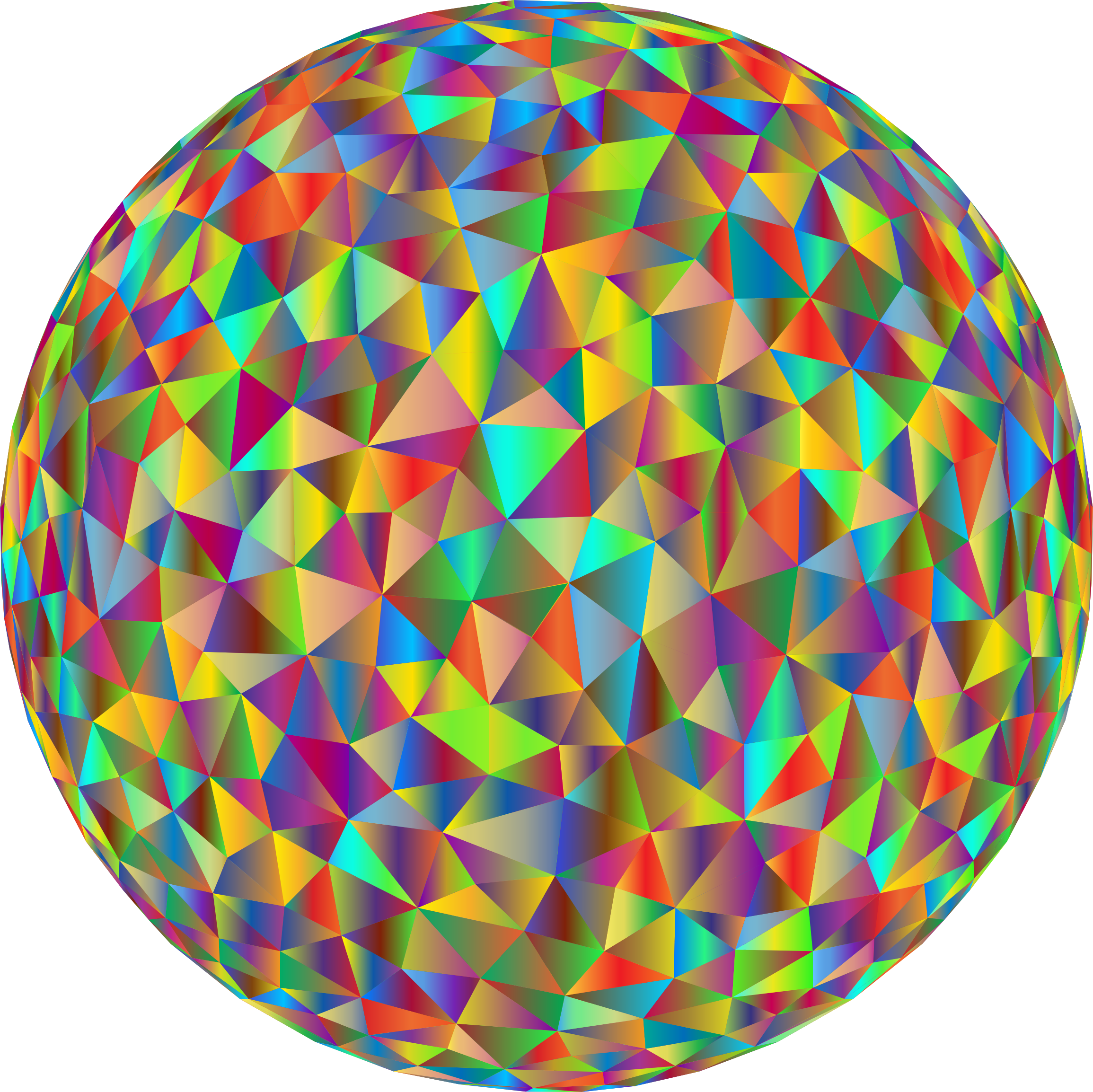 Prismatic Low Poly Sphere 3 by GDJ