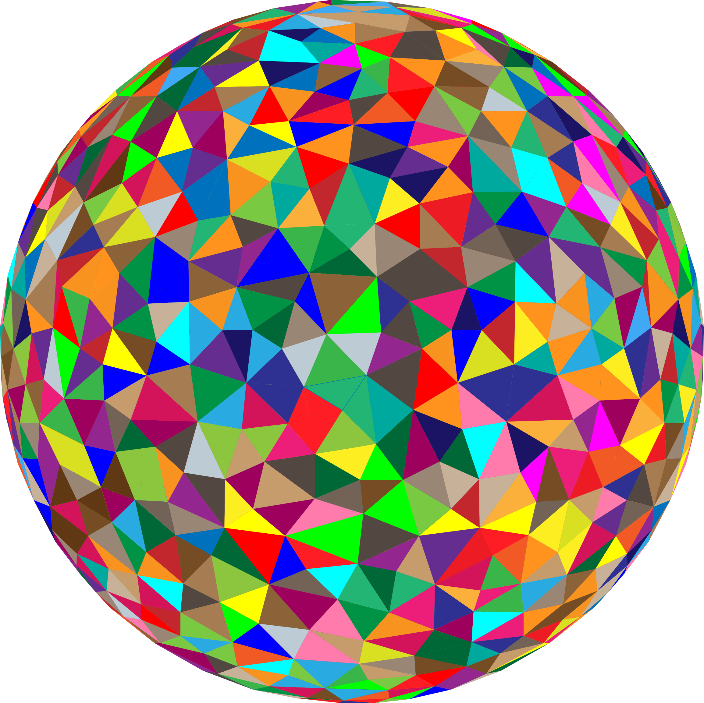 Prismatic Low Poly Sphere 5 by GDJ