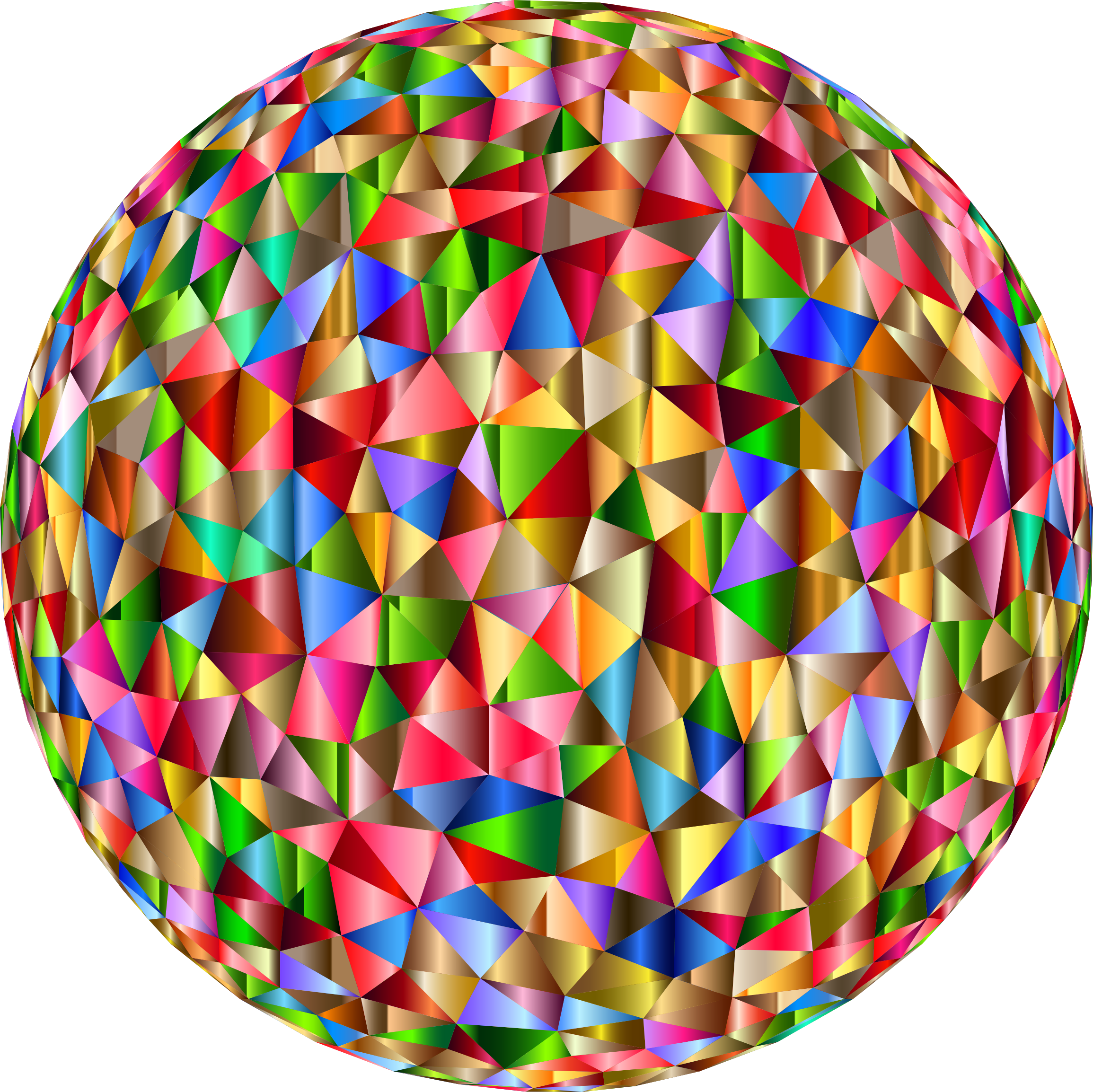 Prismatic Low Poly Sphere 6 by GDJ