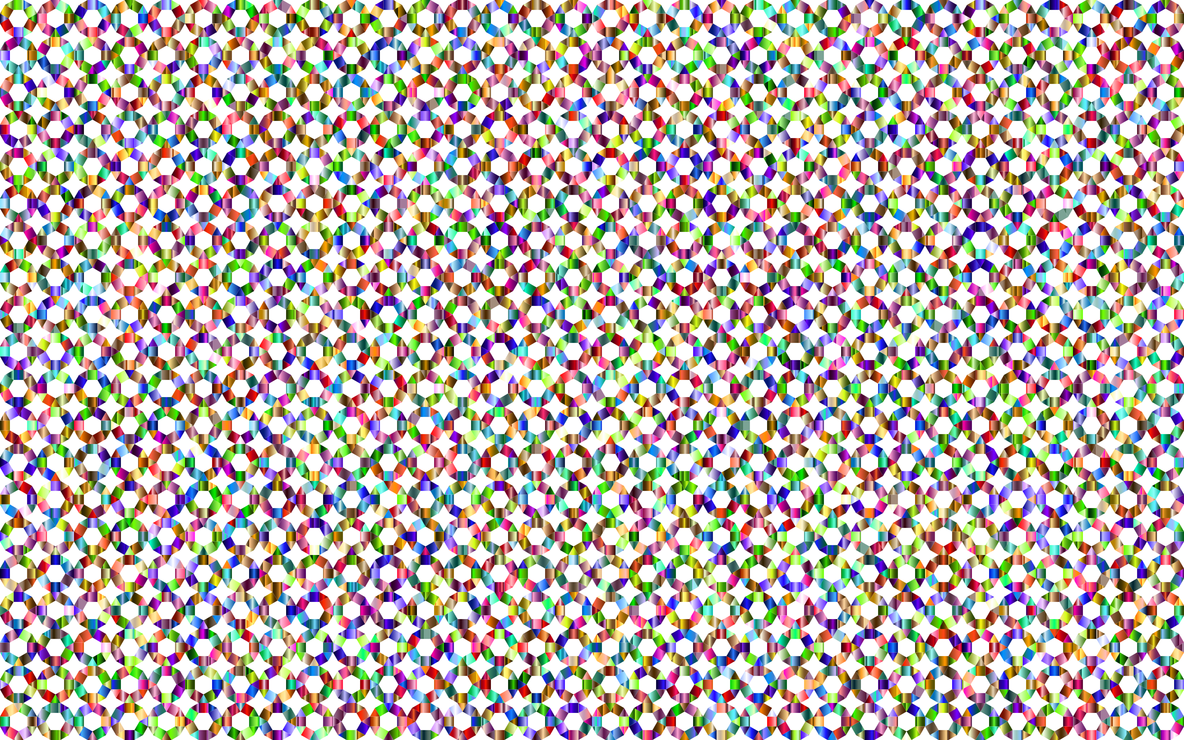 Prismatic Geometric Tessellation Pattern 4 No Background by GDJ