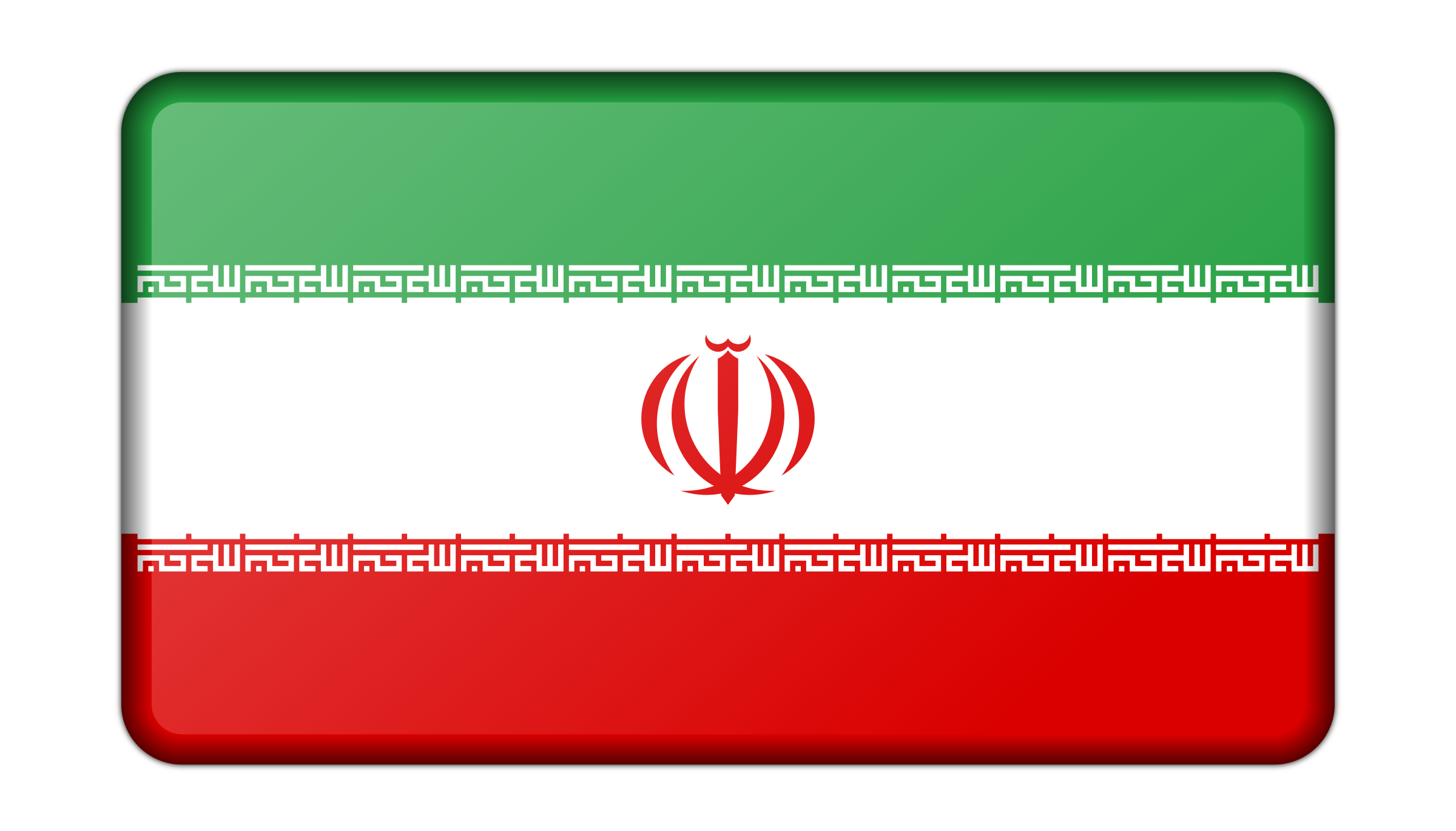 Flag of Iran (bevelled) by Firkin