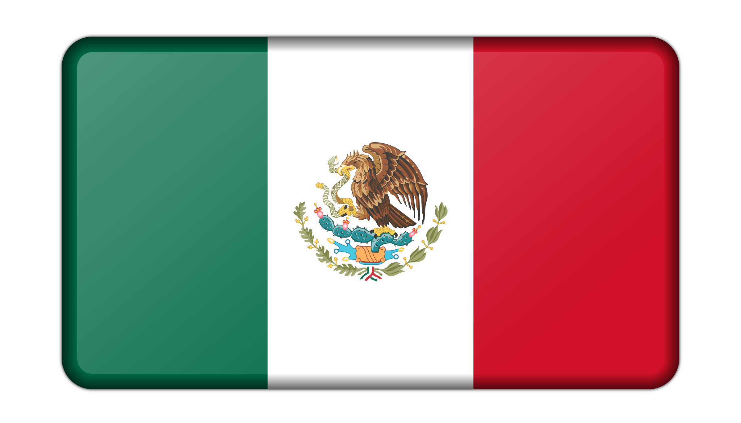 Flag of Mexico (bevelled) by Firkin
