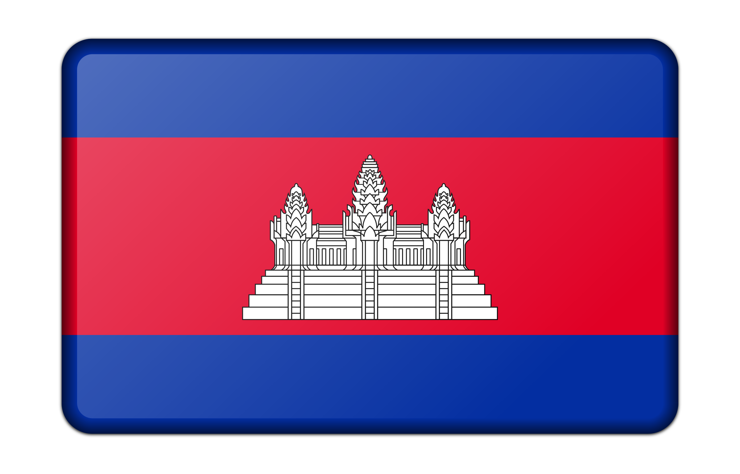 Flag of Cambodia (bevelled) by Firkin