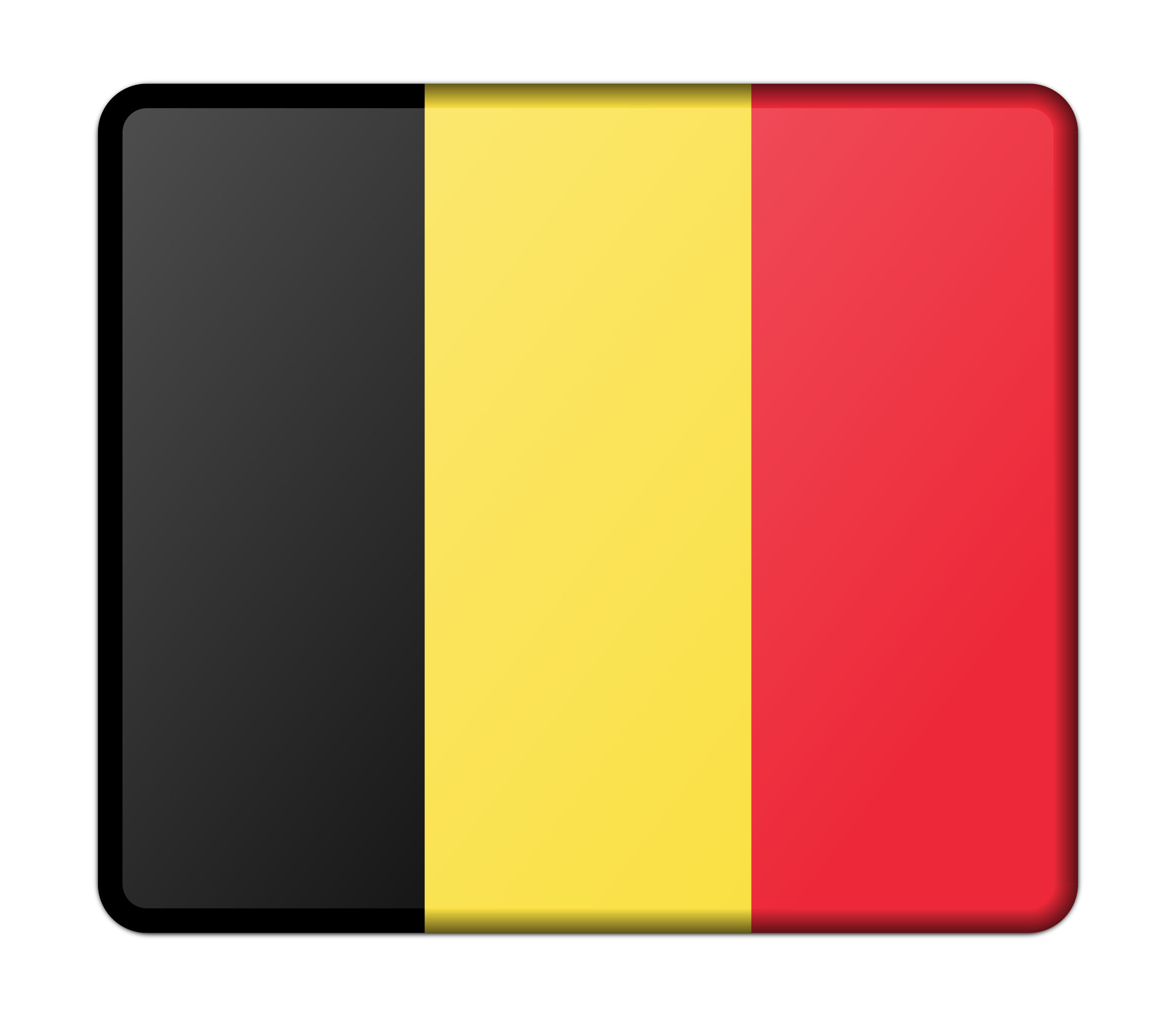Flag of Belgium (bevelled) by Firkin