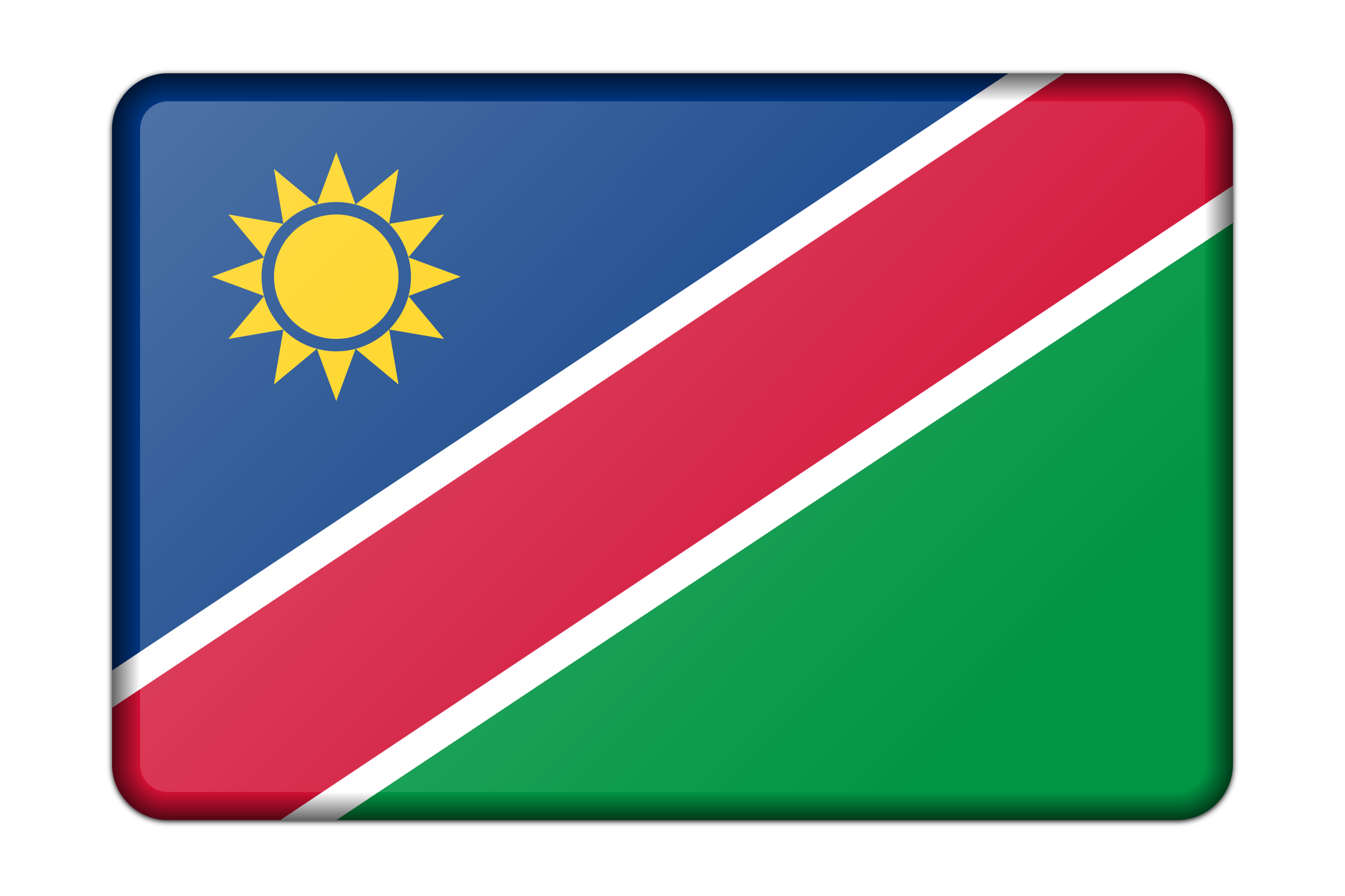 Flag of Namibia (bevelled) by Firkin