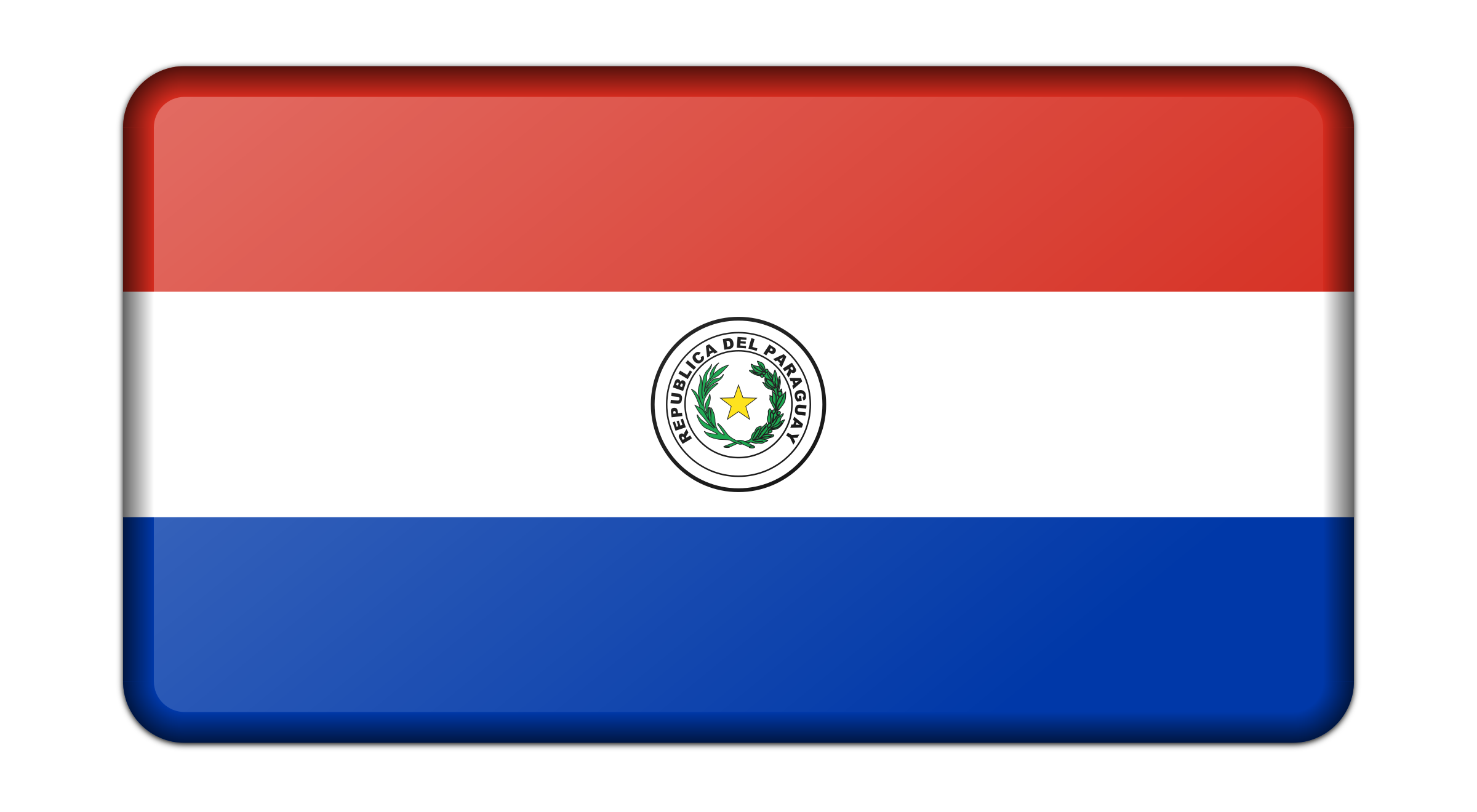 Flag of Paraguay (bevelled) by Firkin