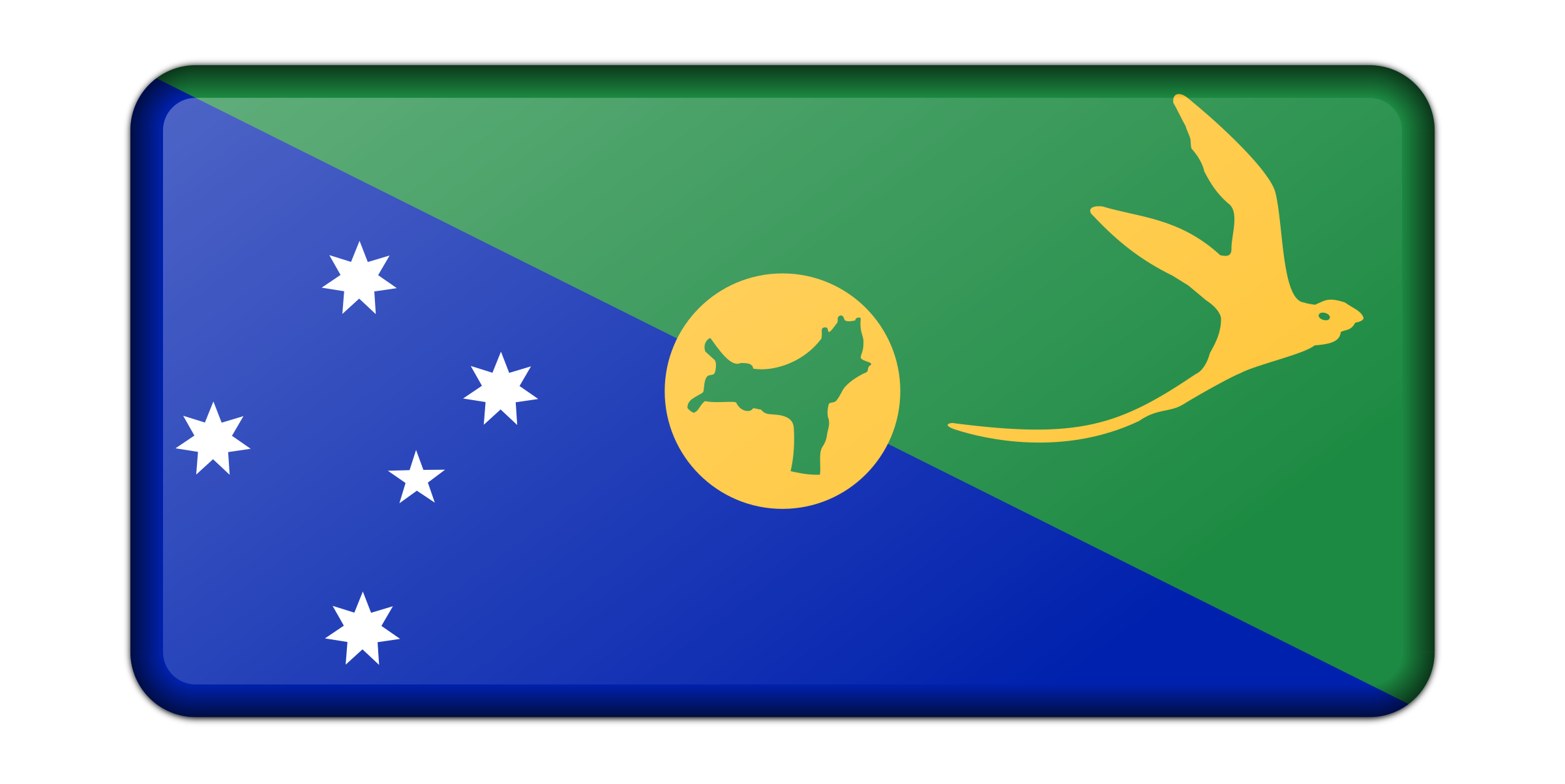 Flag of Christmas Island (bevelled) by Firkin