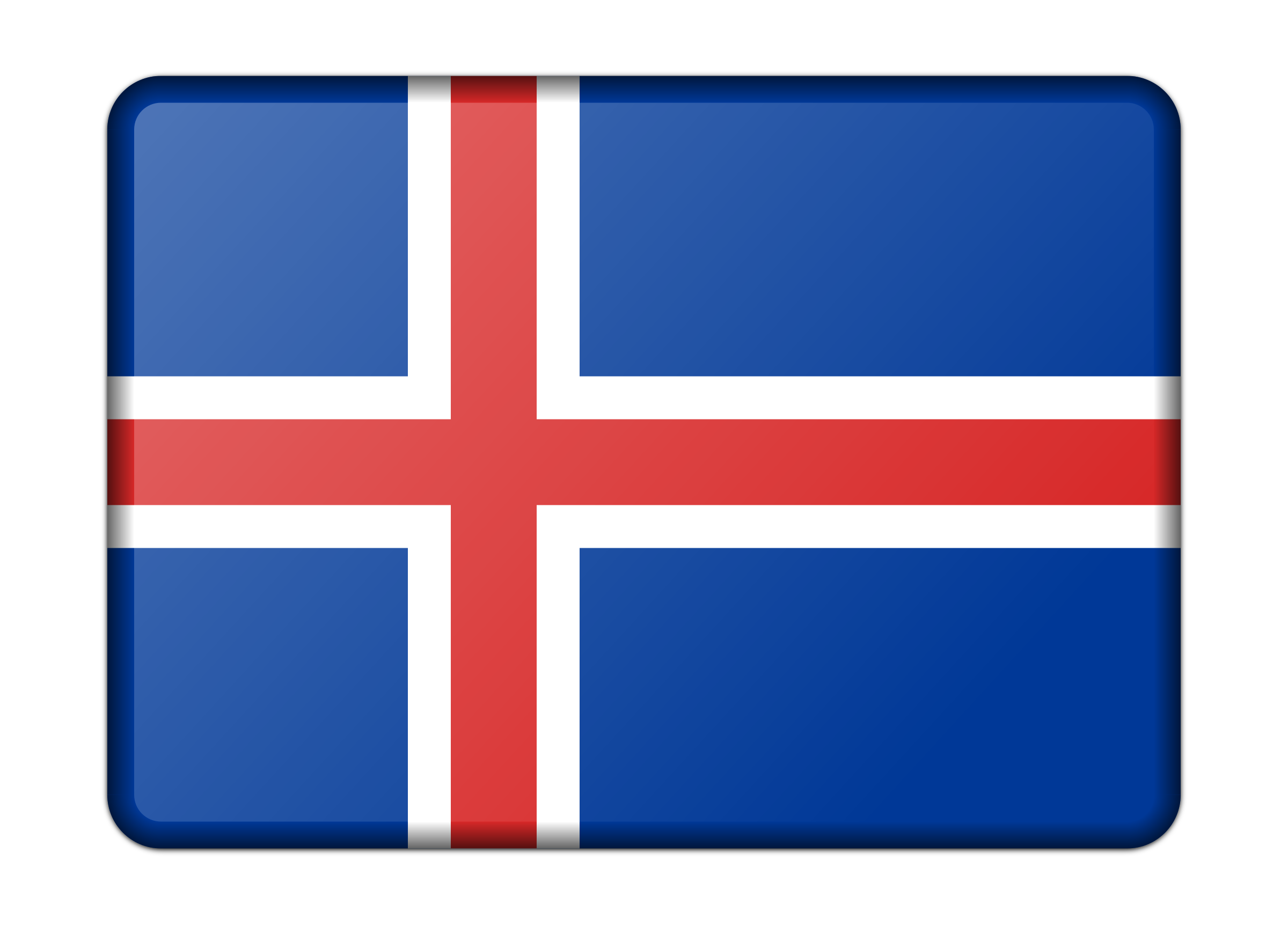 Flag of Iceland (bevelled) by Firkin