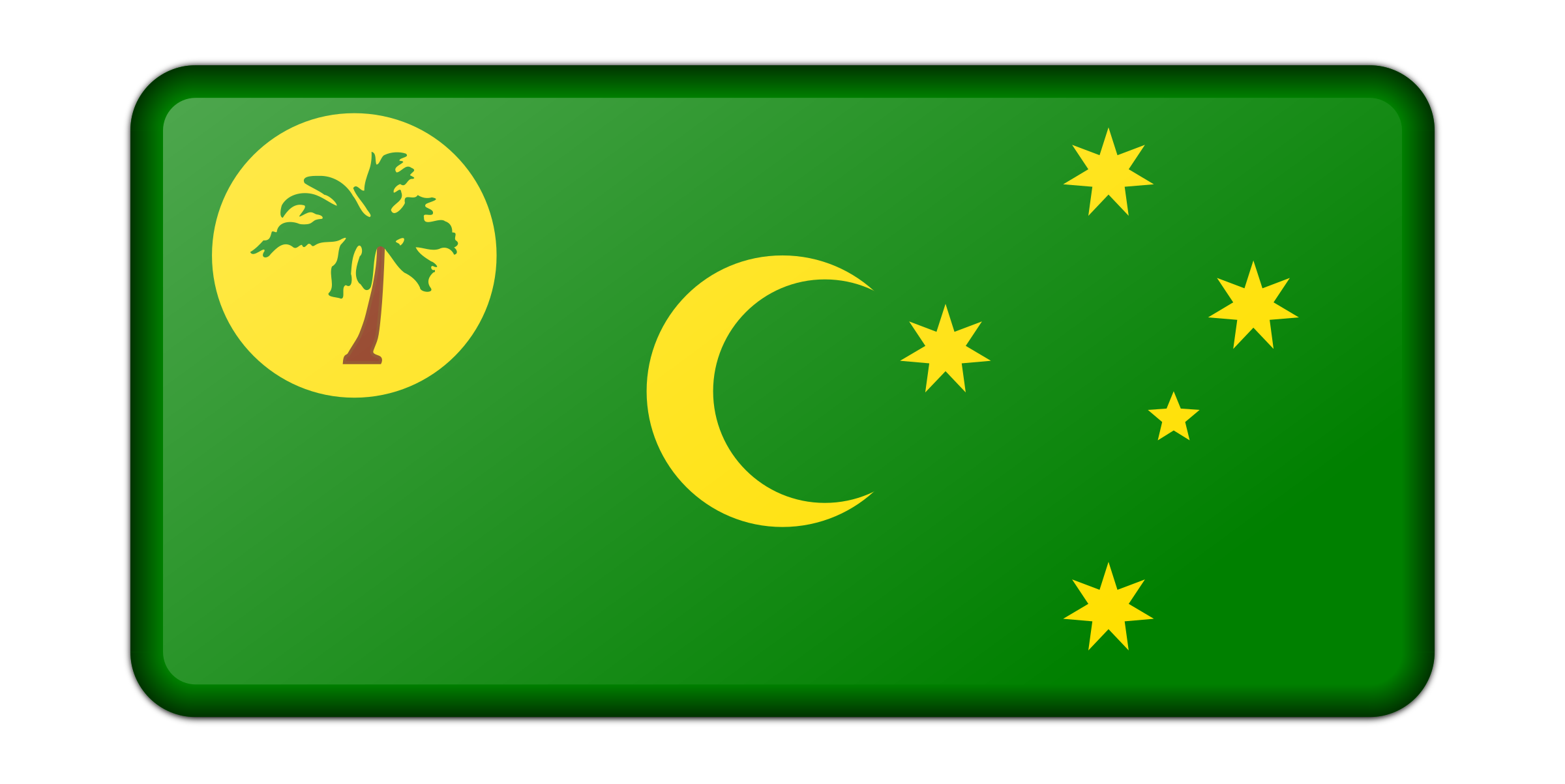 Flag of Cocos Island (bevelled) by Firkin