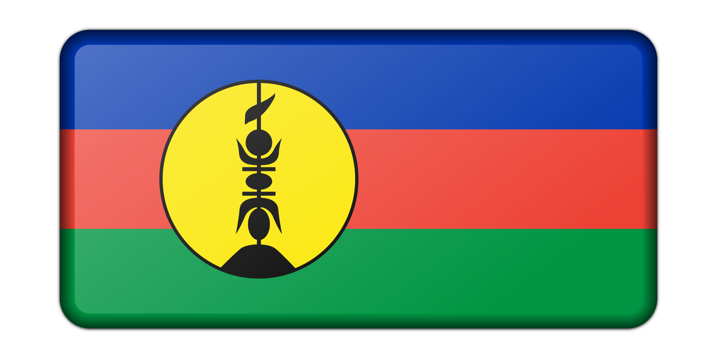 Flag of New Caledonia (bevelled) by Firkin