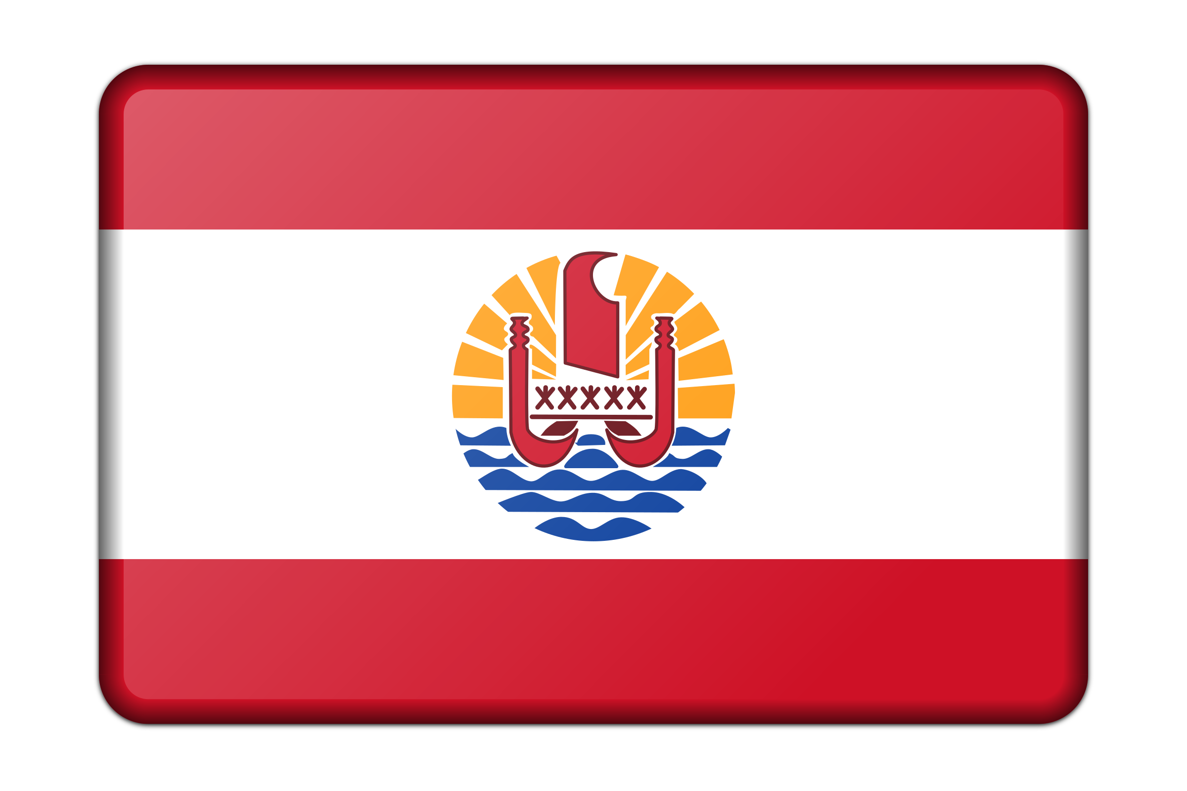 Flag of French Polynesia (bevelled) by Firkin