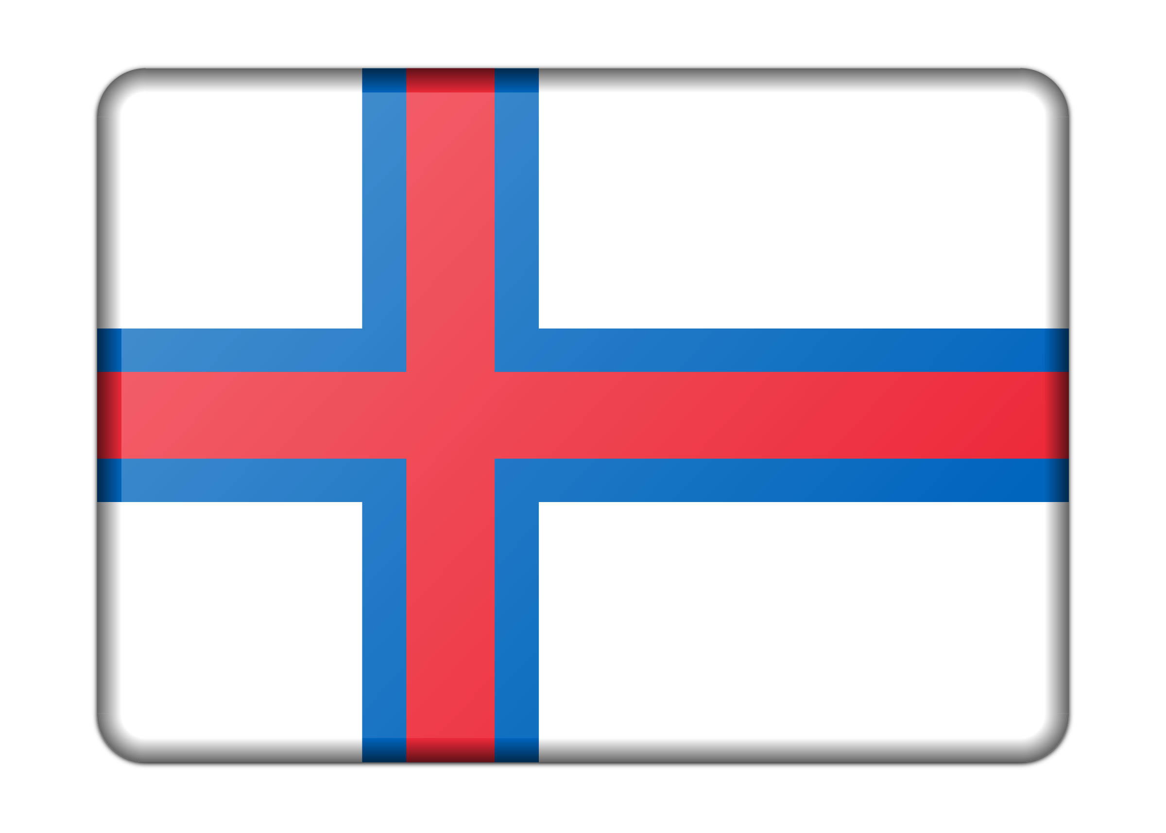 Flag of Faroe Islands (bevelled) by Firkin