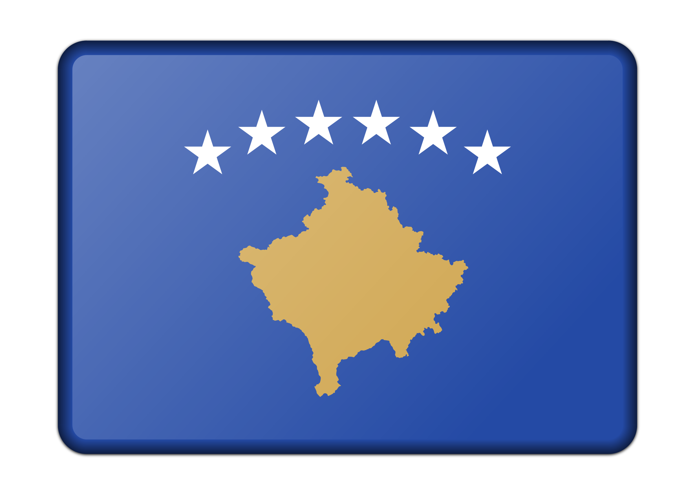 Flag of Kosovo (bevelled) by Firkin