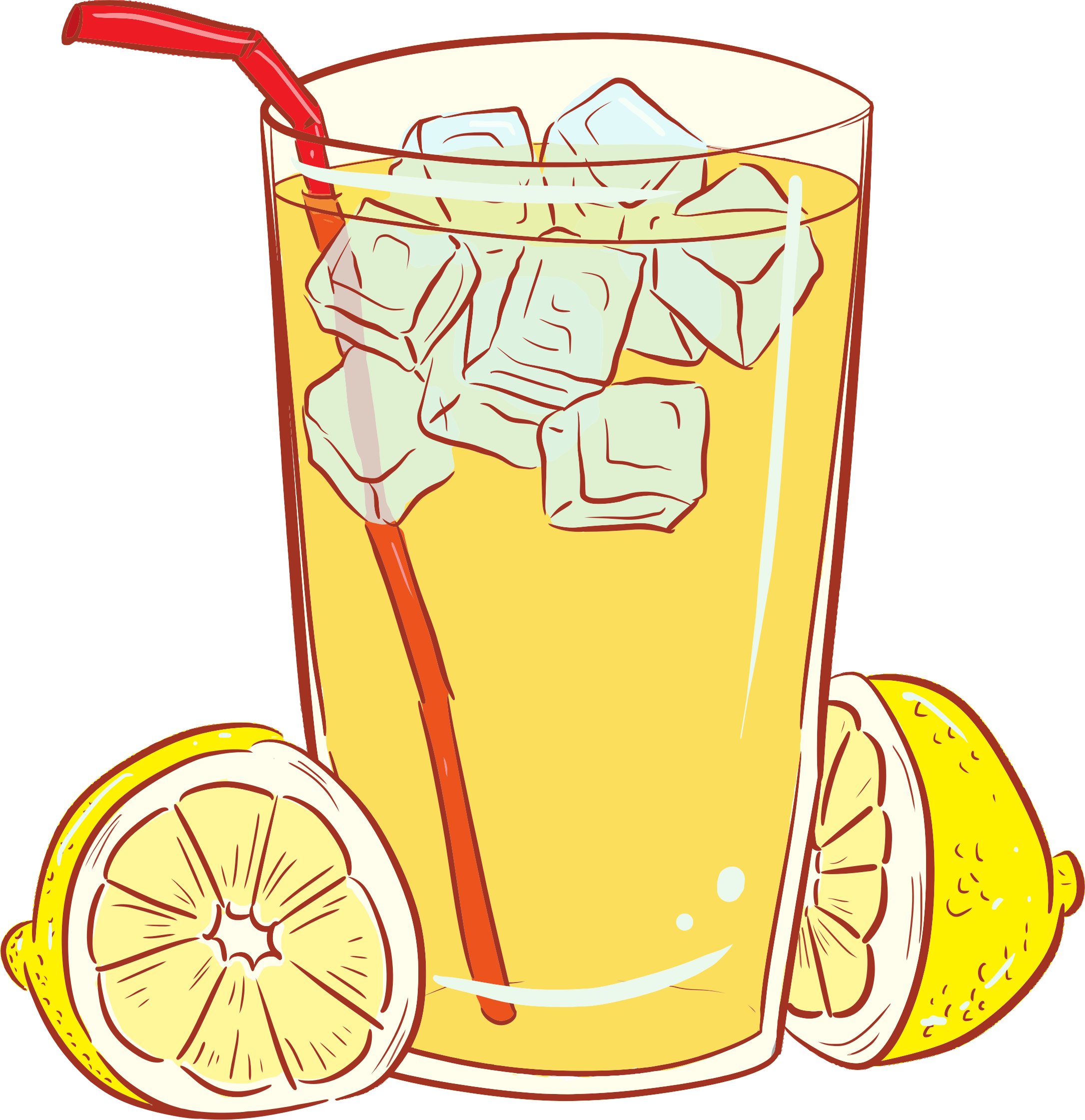 clipart cold glass of lemonade rh openclipart org lemonade clipart images lemonade clipart transparent