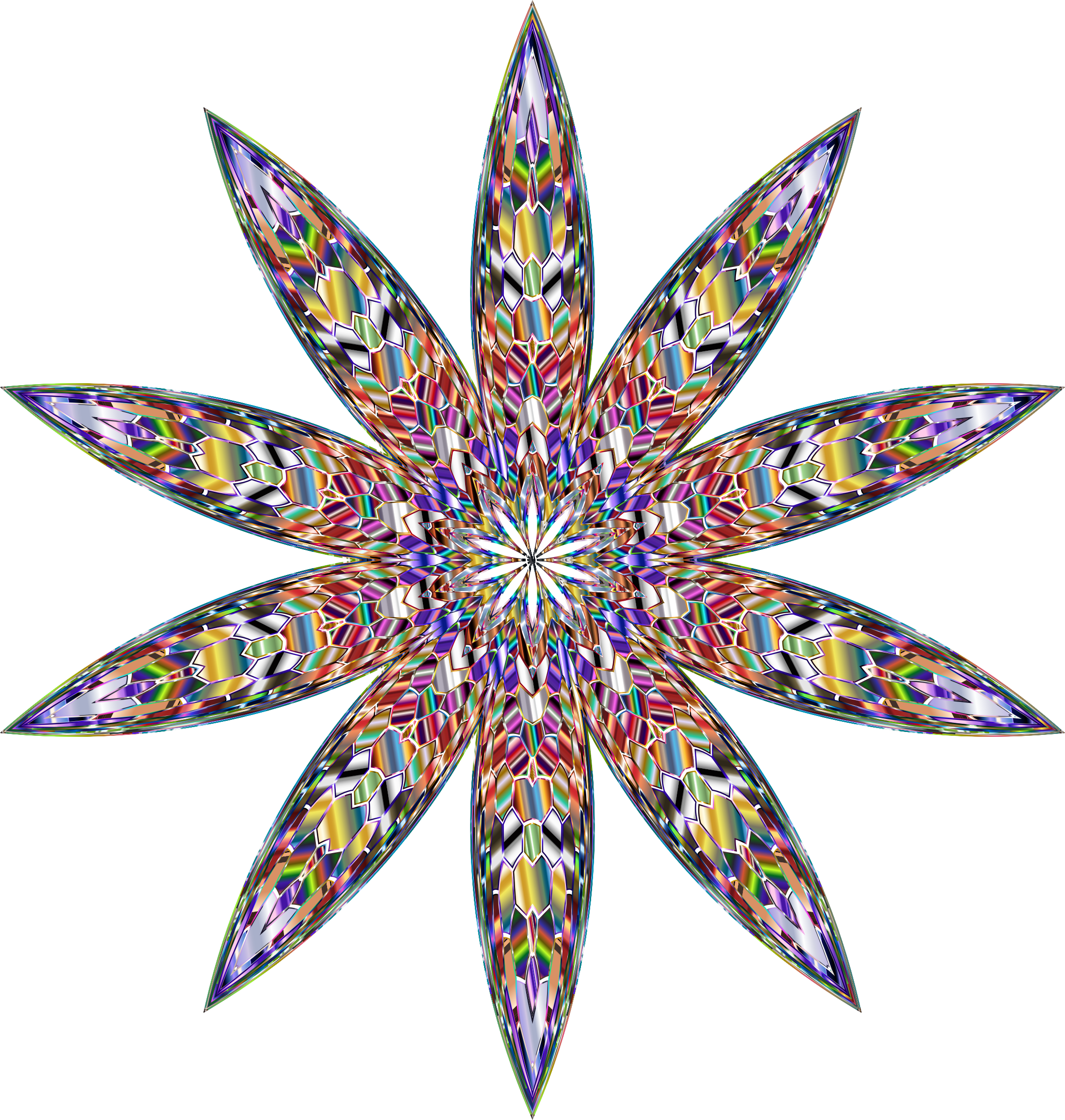 Chromatic Crystalline Star by GDJ