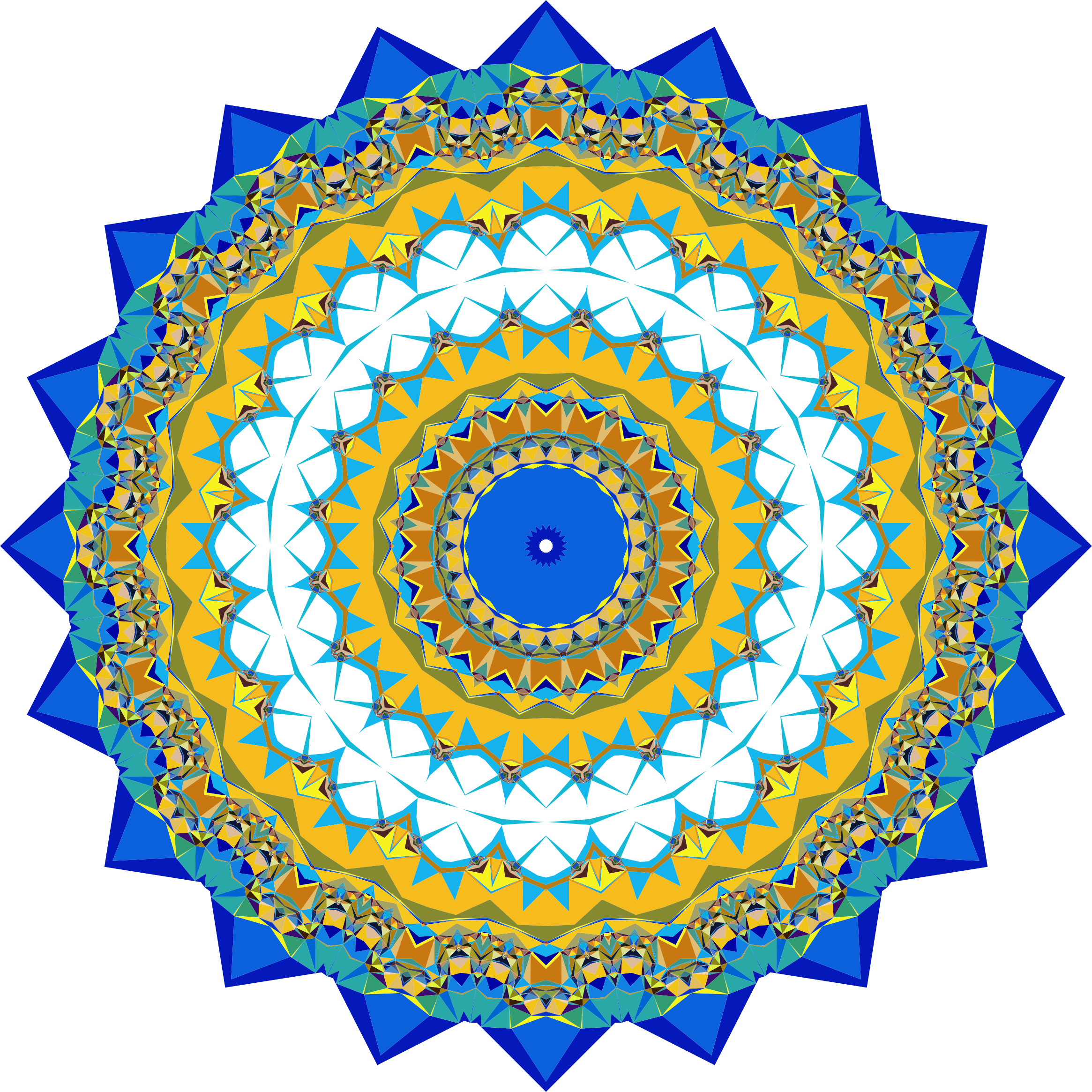 Abstract Geometric Mandala by GDJ