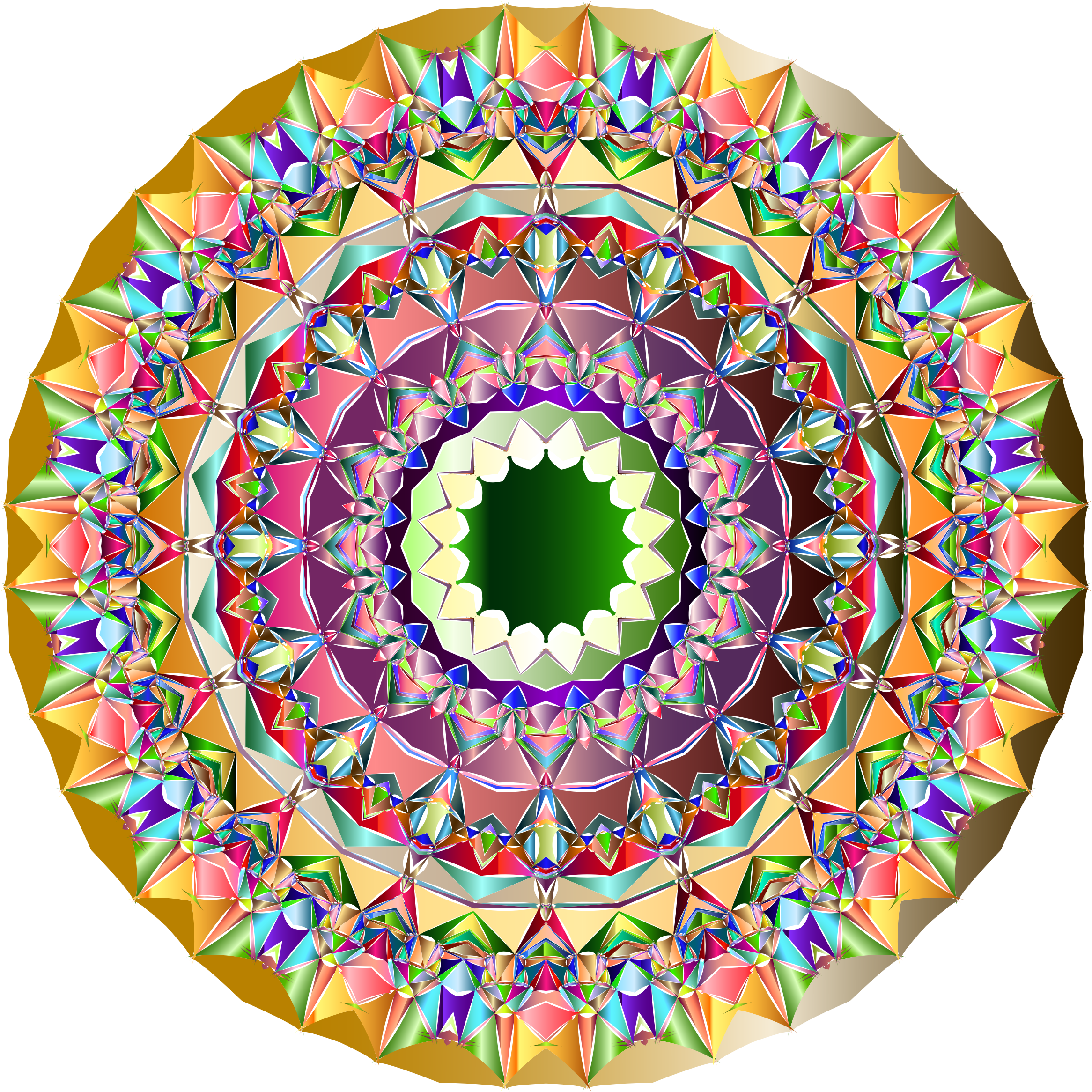 Abstract Geometric Mandala 2 by GDJ