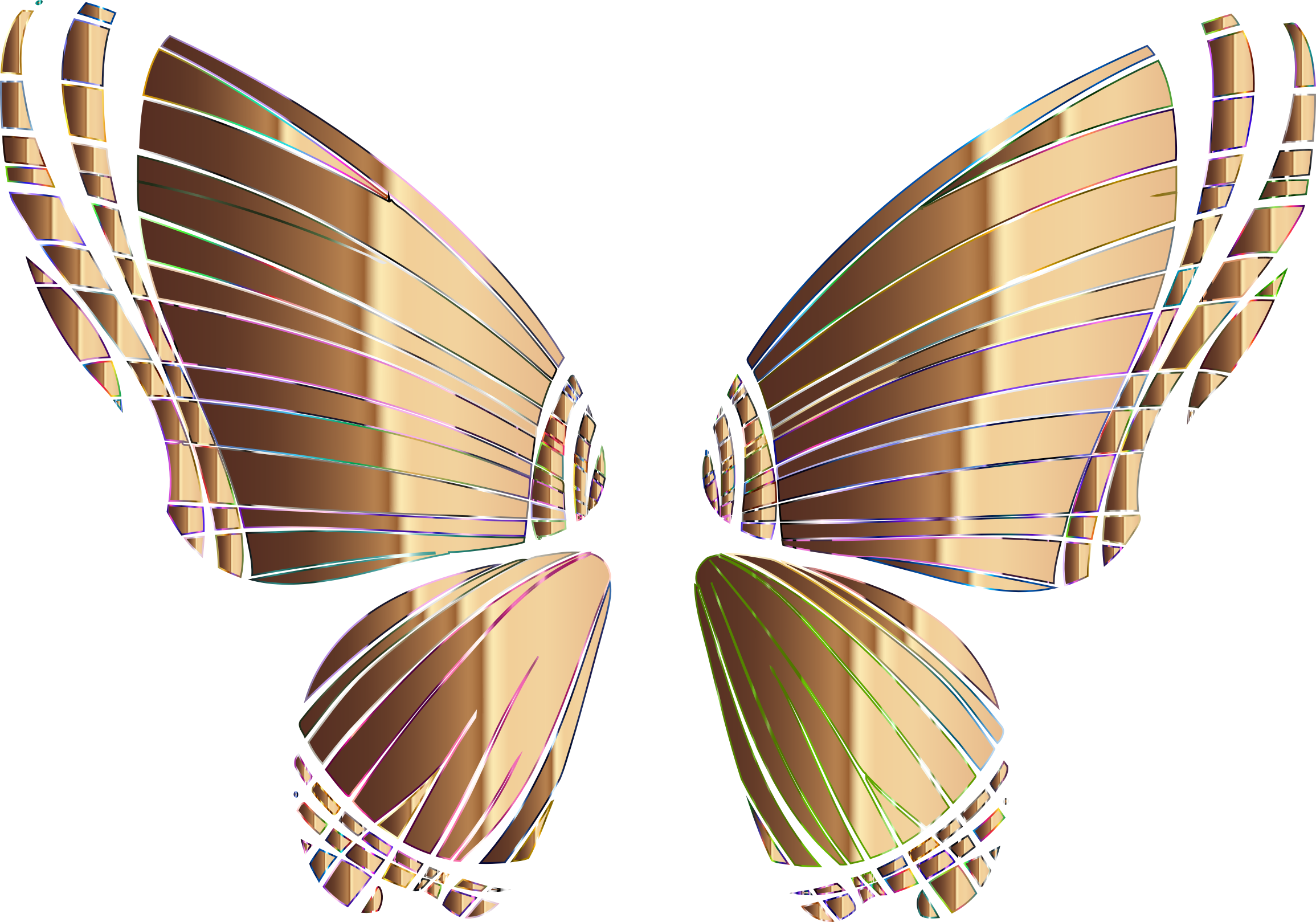 RGB Butterfly Silhouette 10 9 No Background by GDJ