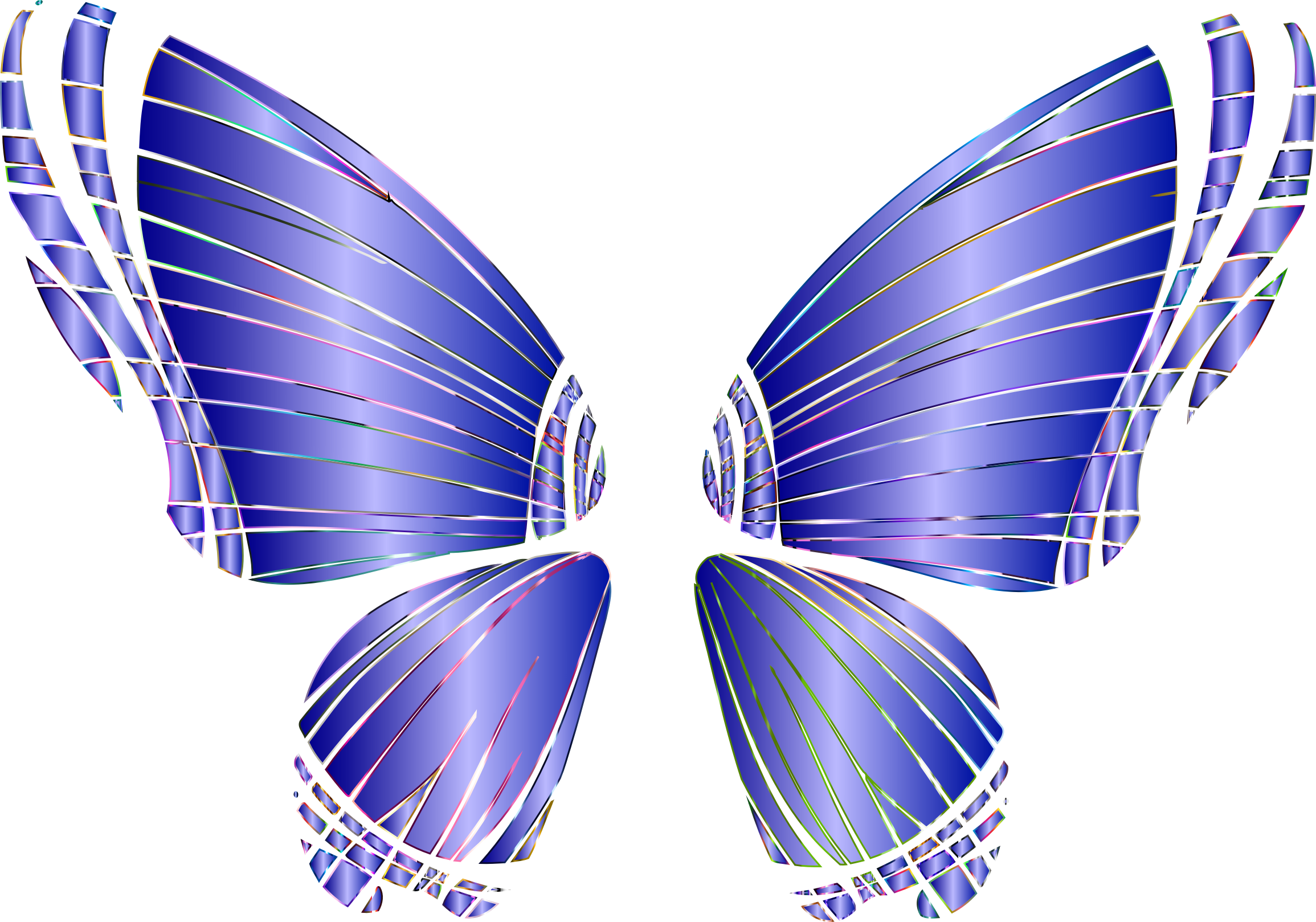 RGB Butterfly Silhouette 10 10 No Background by GDJ