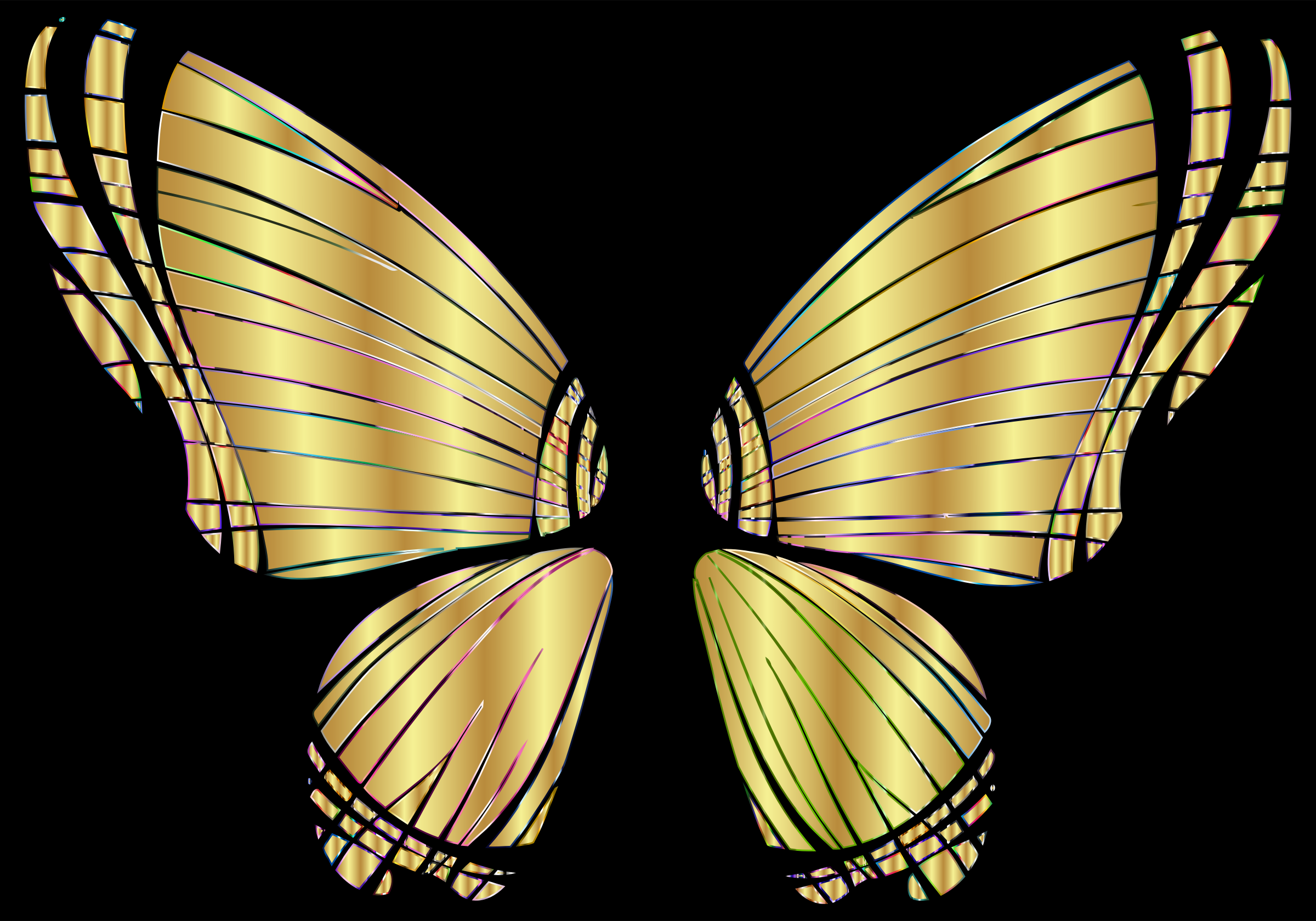 Clipart - RGB Butterfly Silhouette 10 12