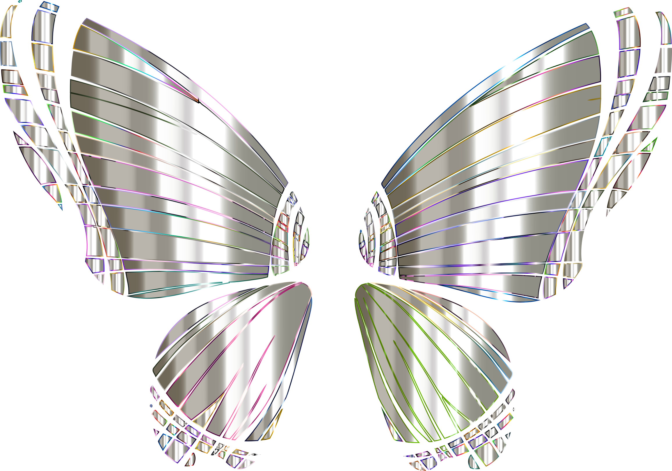 RGB Butterfly Silhouette 10 13 No Background by GDJ