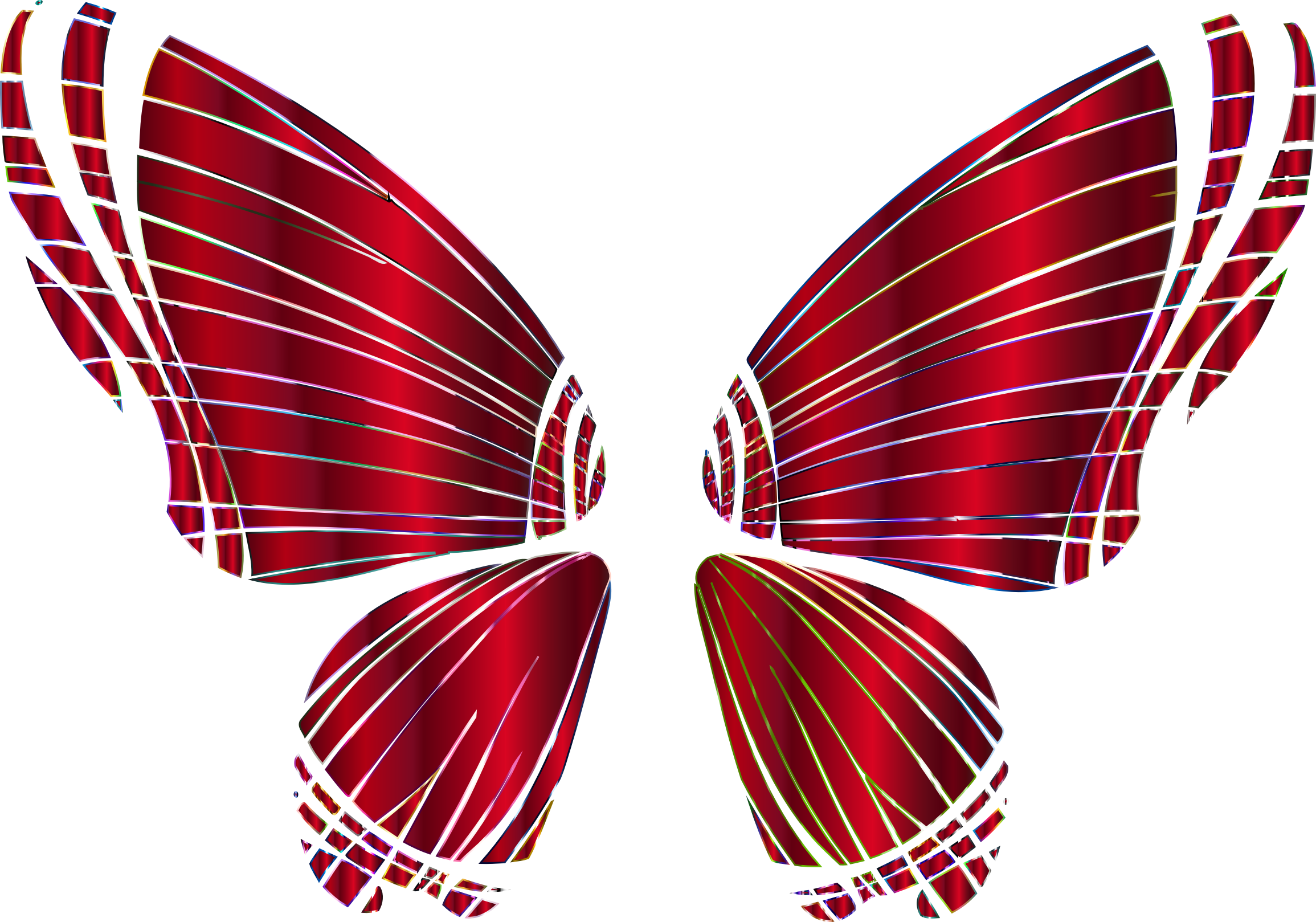 RGB Butterfly Silhouette 10 14 No Background by GDJ