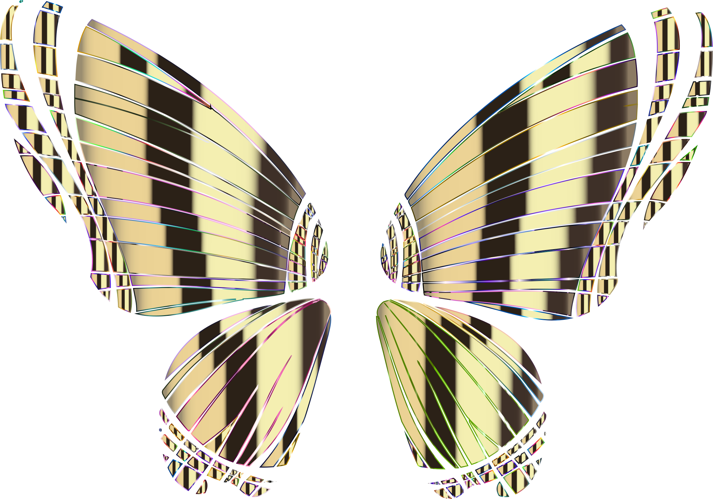 RGB Butterfly Silhouette 10 15 No Background by GDJ
