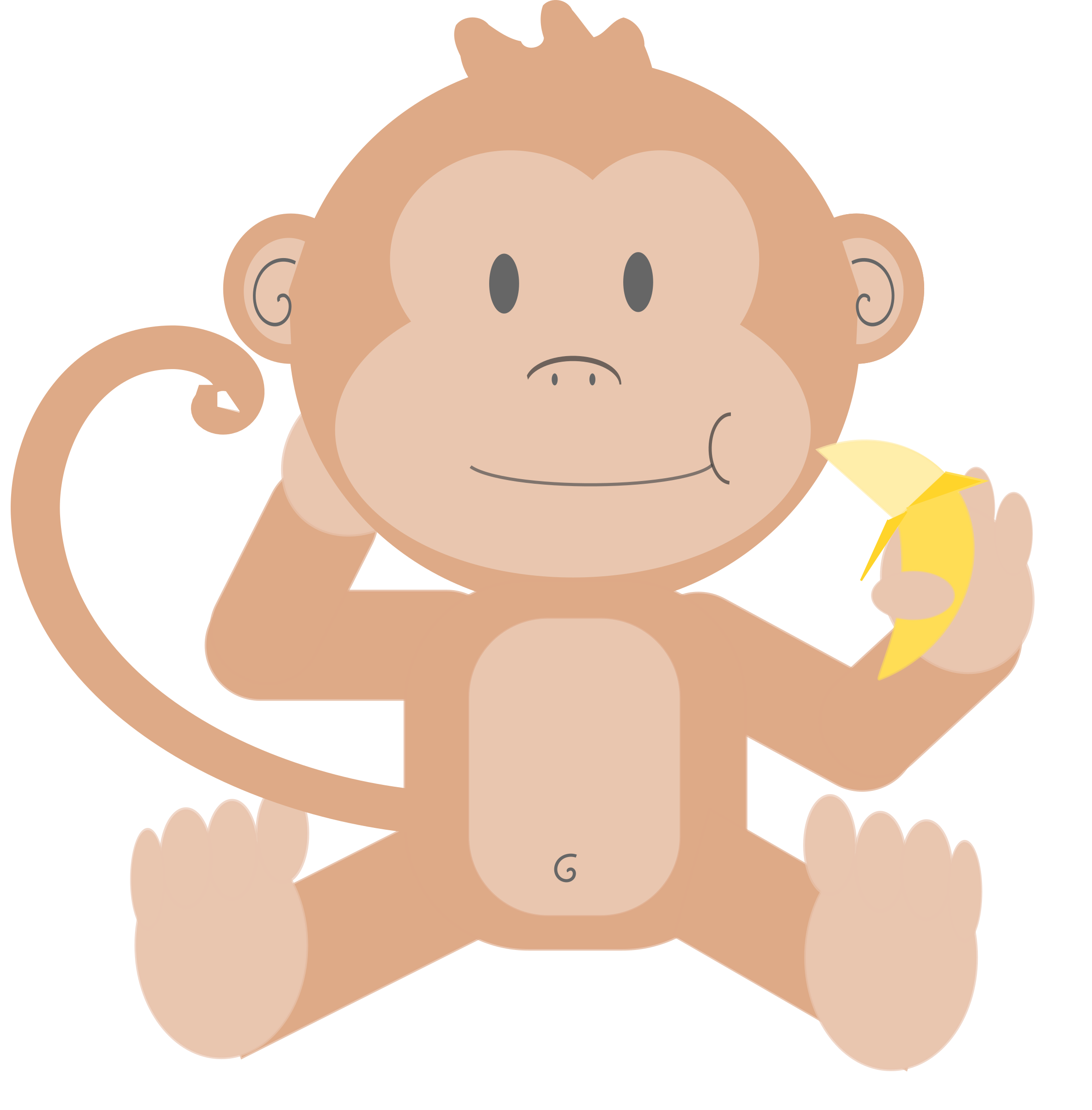Cartoon monkey without background by talekids