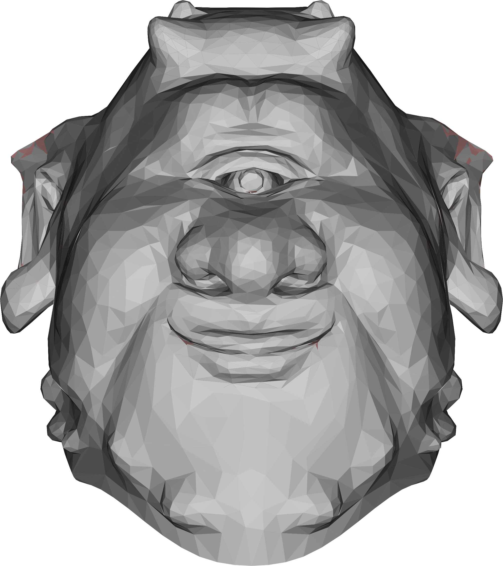 Low Poly Ogre Head by GDJ