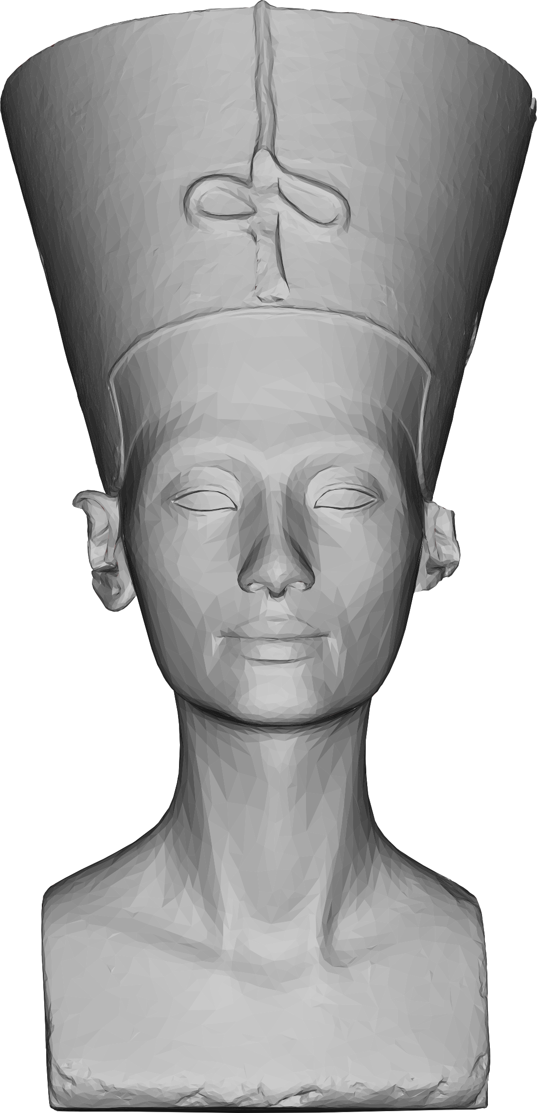 Low Poly 3D Nefertiti Bust by GDJ