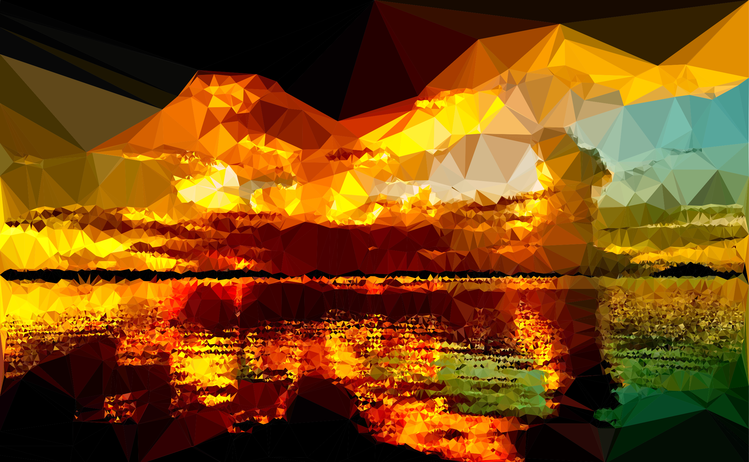 Low Poly Glimmering Dusk by GDJ