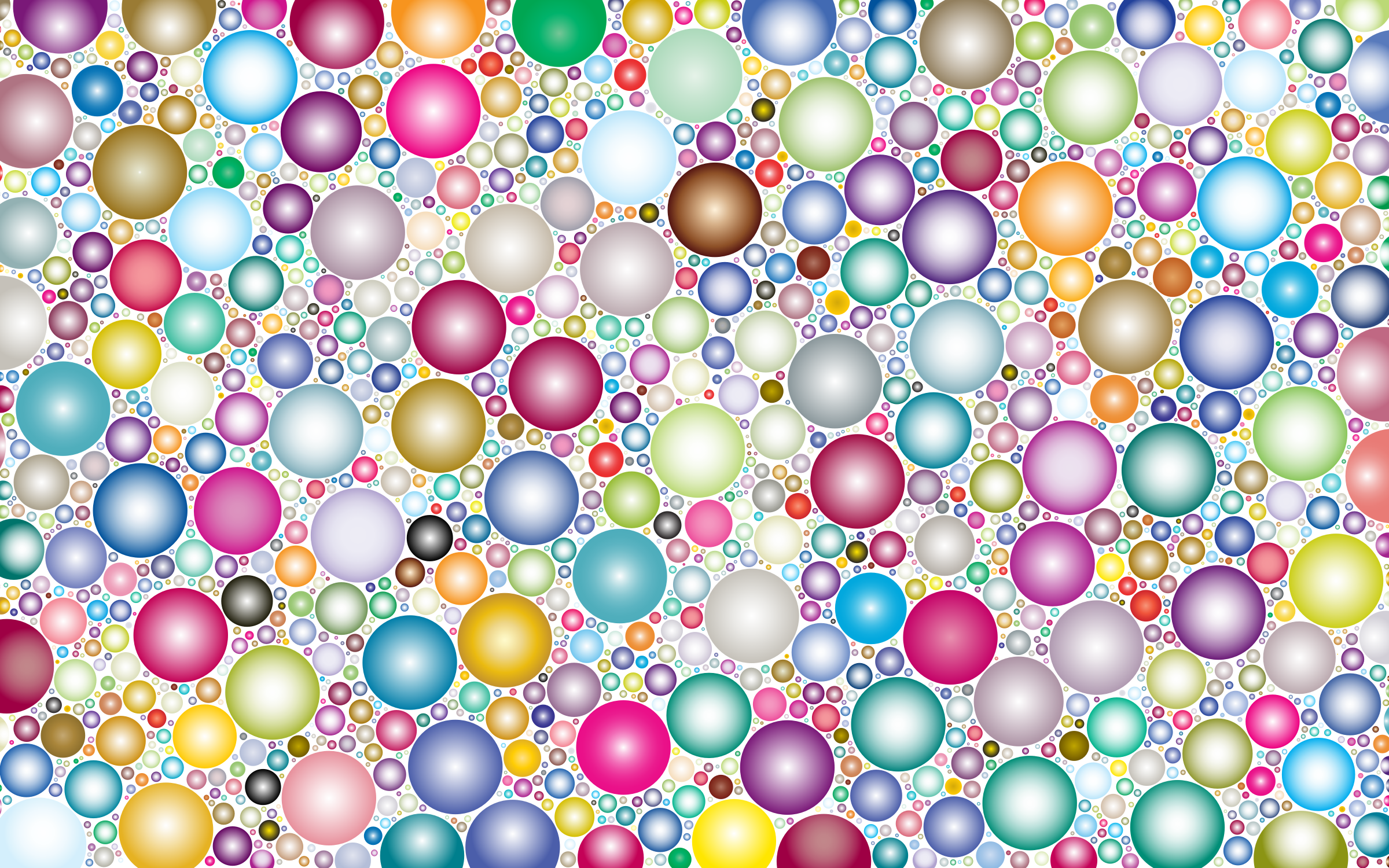 Prismatic Packed Circles 4 No Background by GDJ