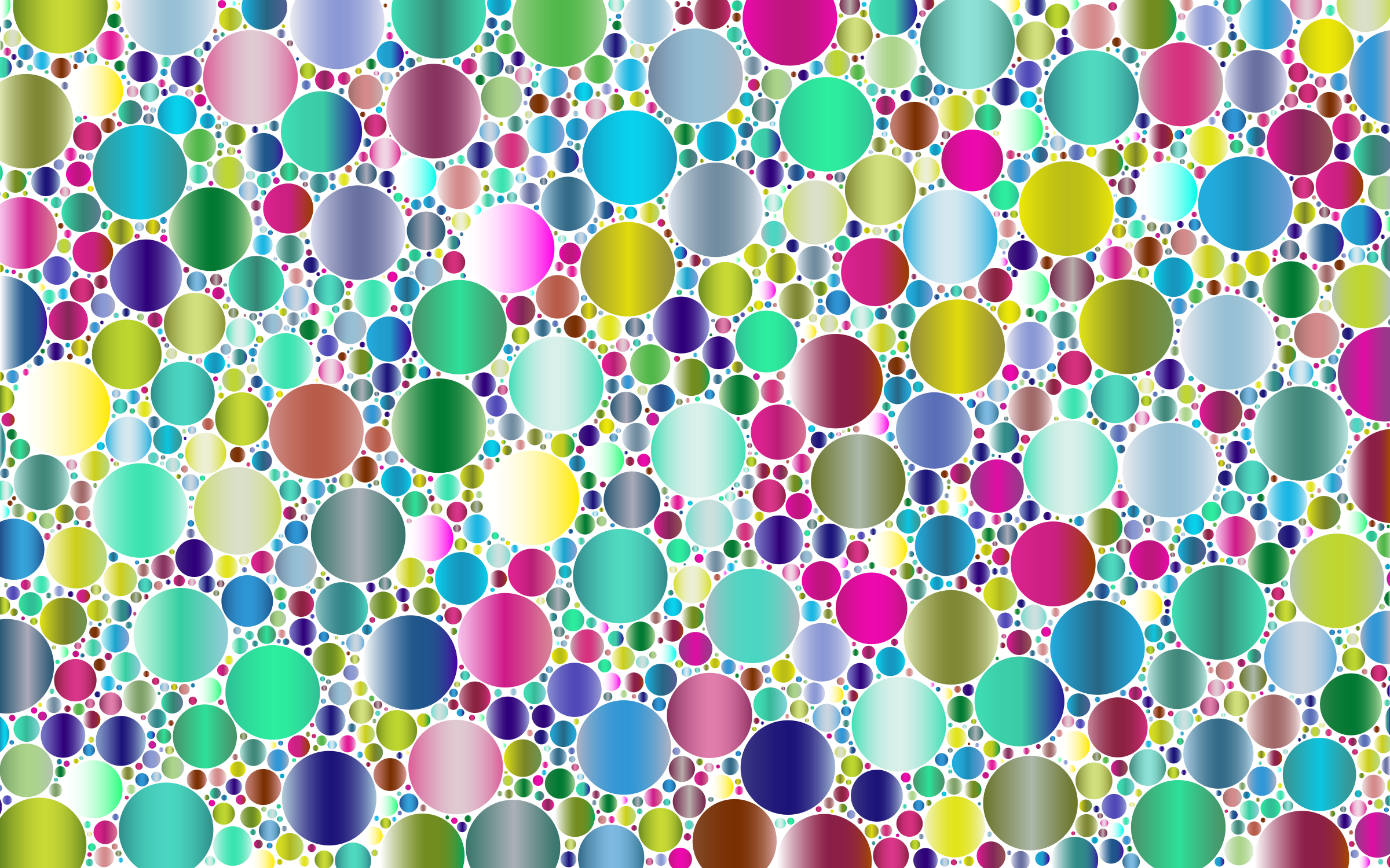 Prismatic Packed Circles 5 No Background by GDJ